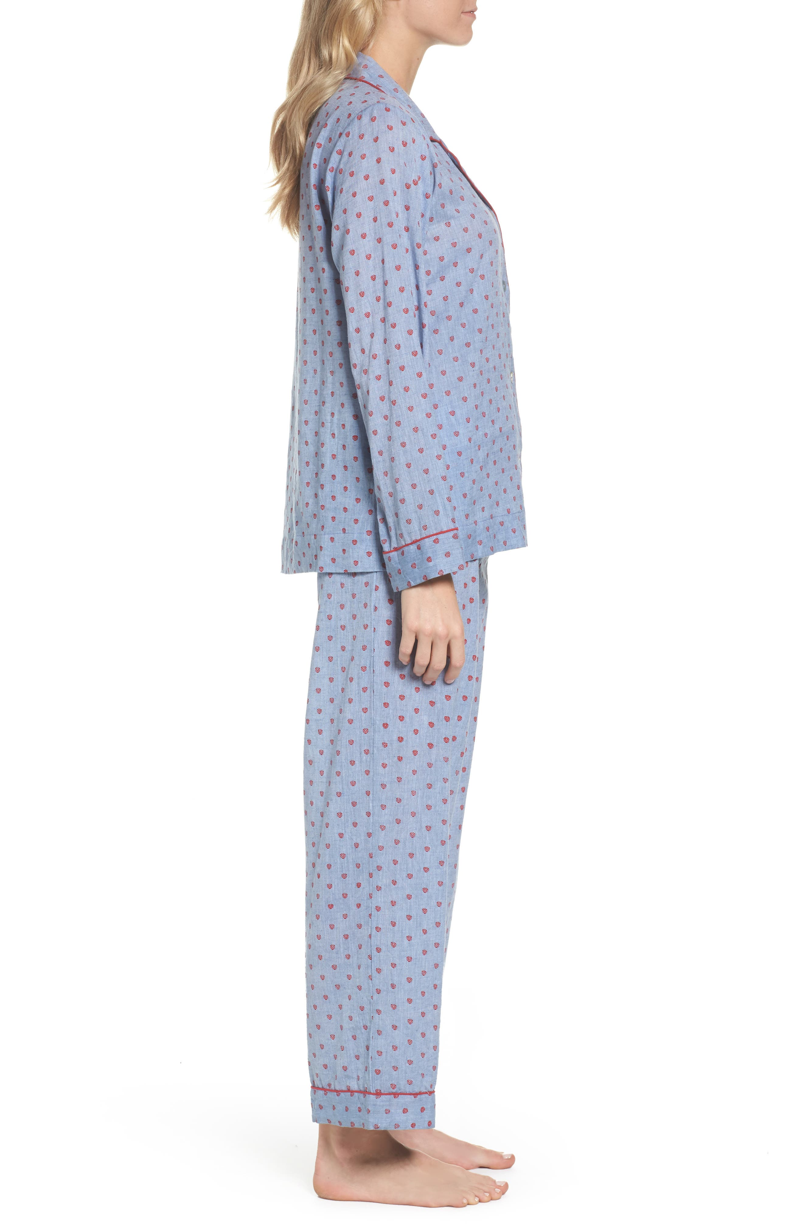 Washed Cotton Pajamas,                             Alternate thumbnail 3, color,                             Rb-Denim
