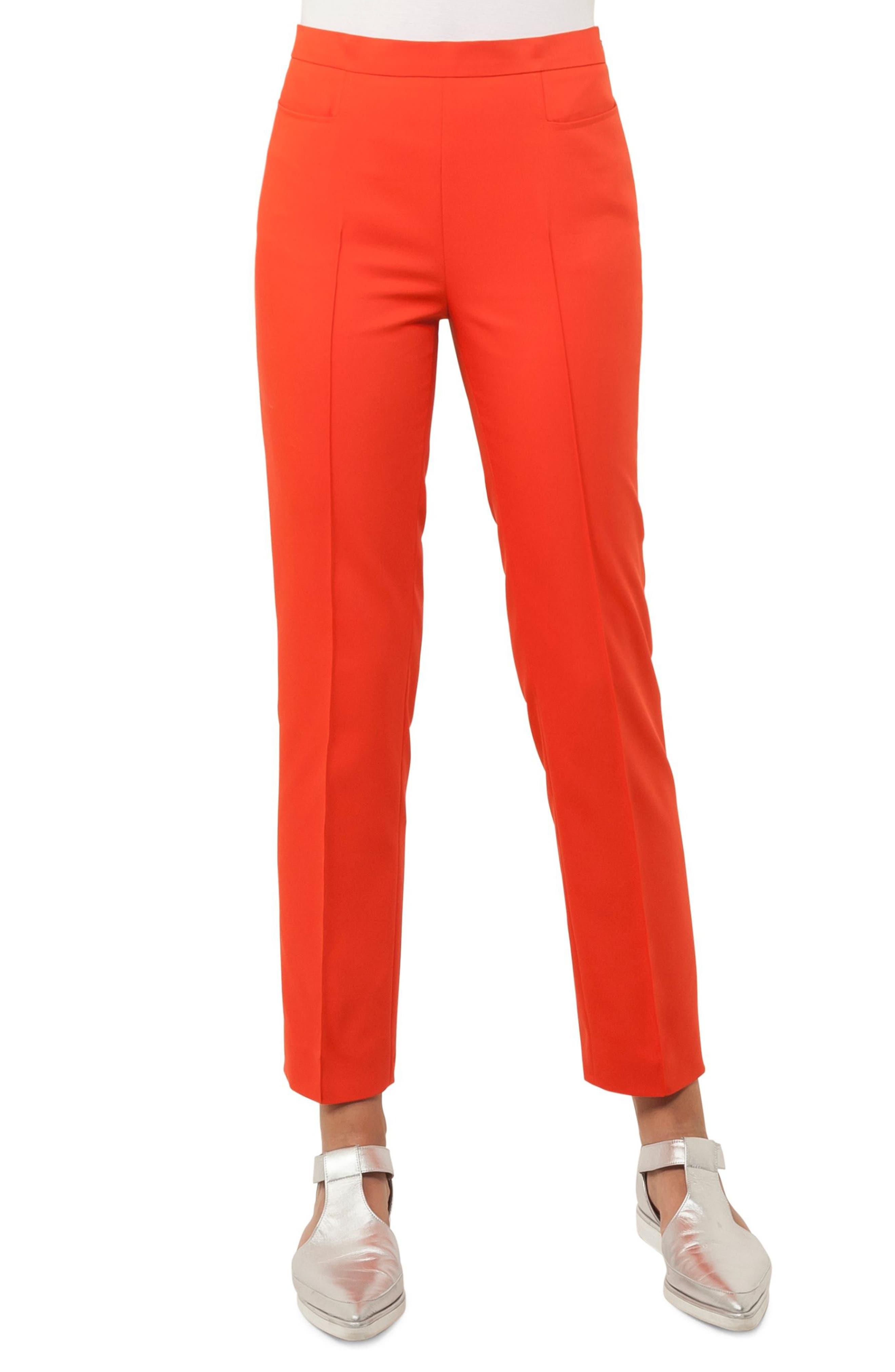 Franca Stretch Cotton Pants,                         Main,                         color, Papaya