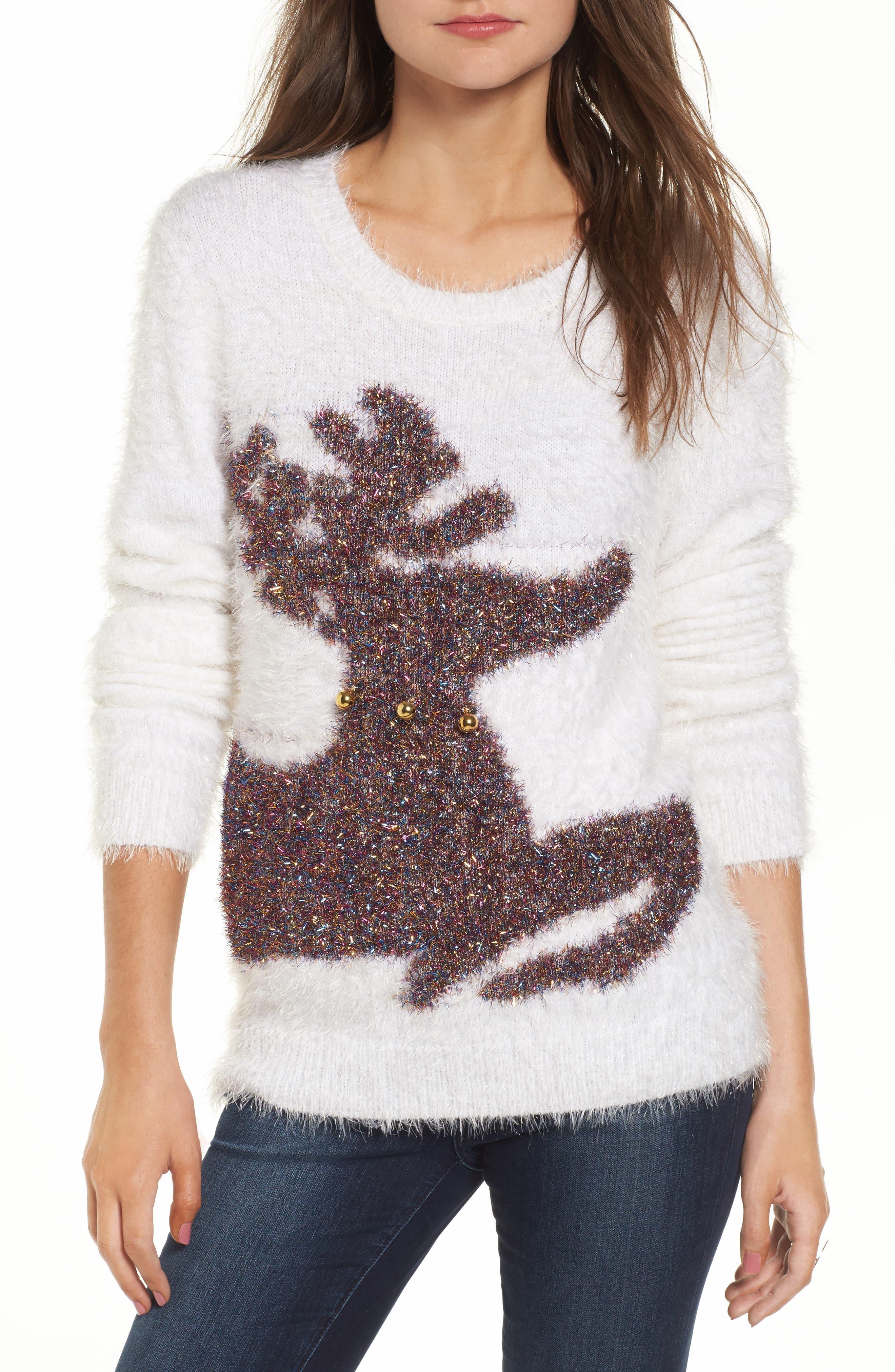 Ten Sixty Sherman Fuzzy Reindeer Sweater