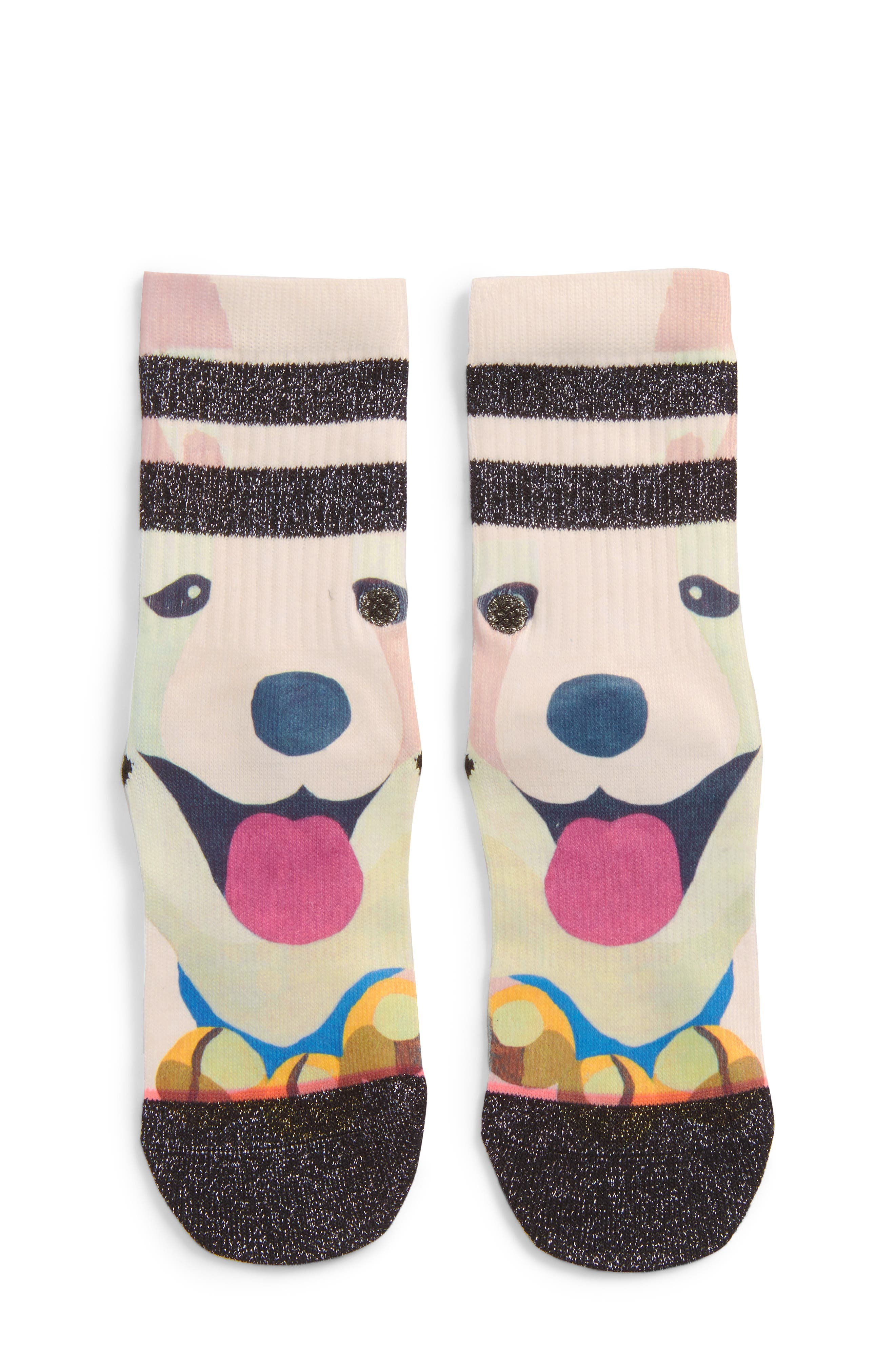 Alternate Image 1 Selected - Stance Puppies Crew Socks (Toddler, Little Kid & Big Kid)