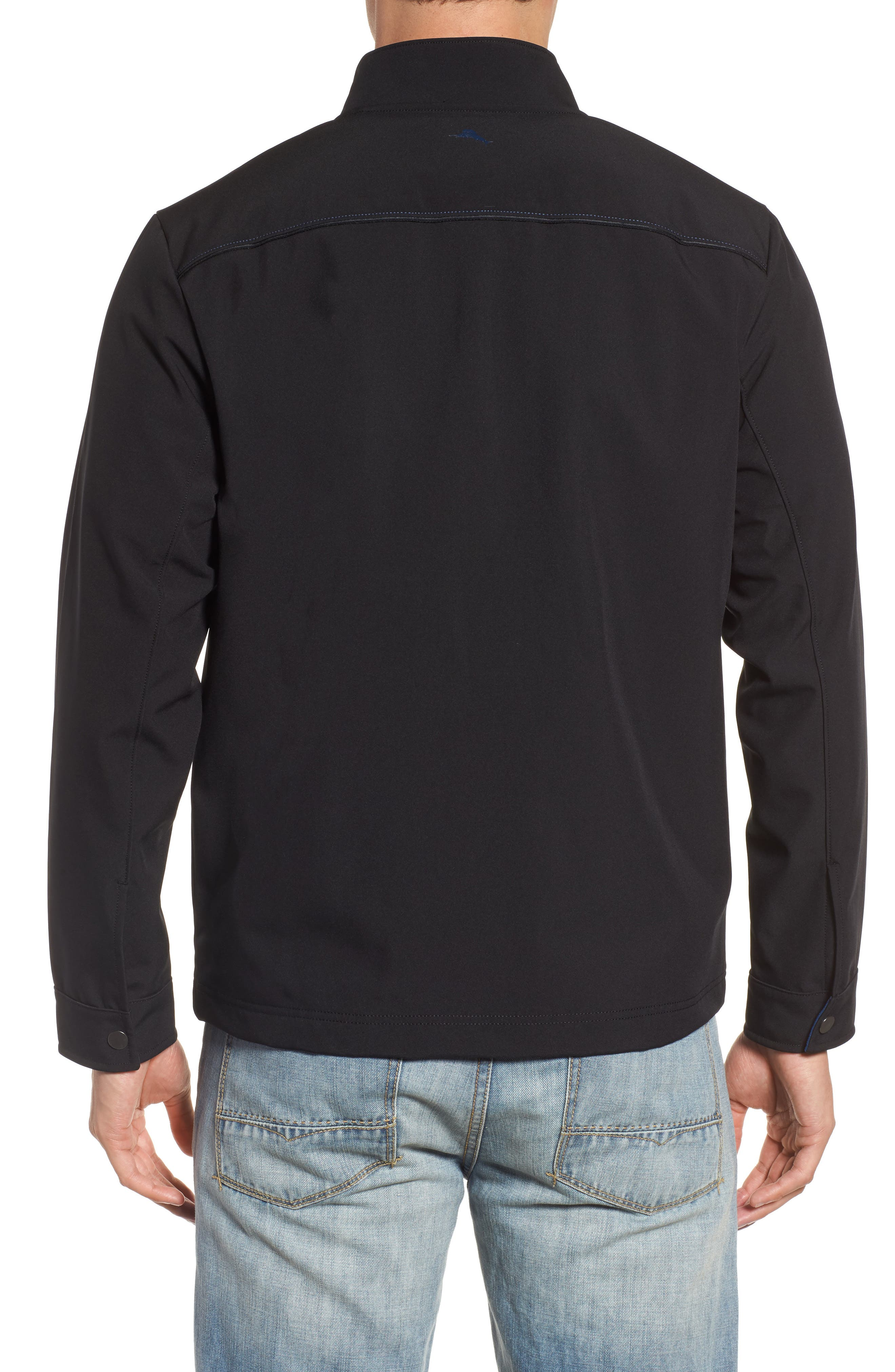 Downswing Zip Jacket,                             Alternate thumbnail 2, color,                             Black