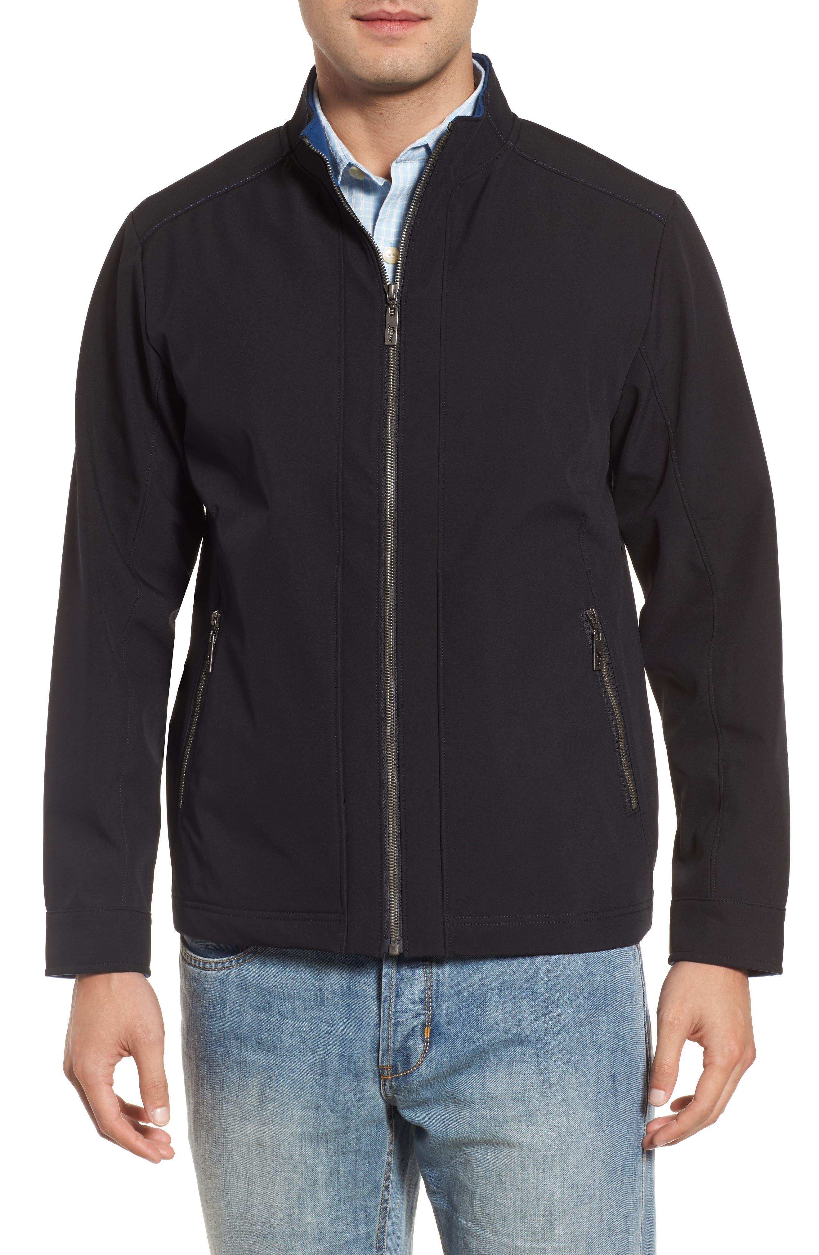 Downswing Zip Jacket,                             Alternate thumbnail 4, color,                             Black