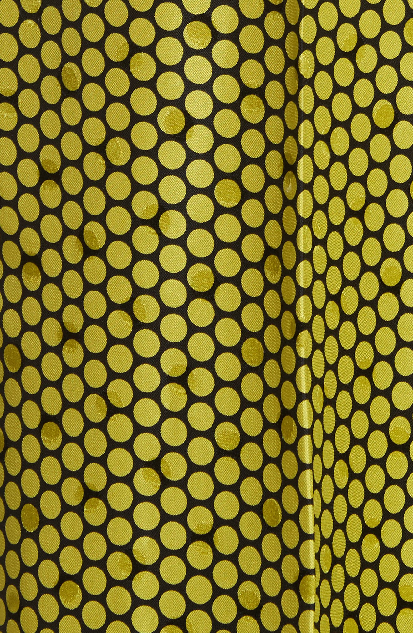 Diane von Furstenberg Dot Silk Palazzo Pants,                             Alternate thumbnail 5, color,                             Rowe Dot Citron