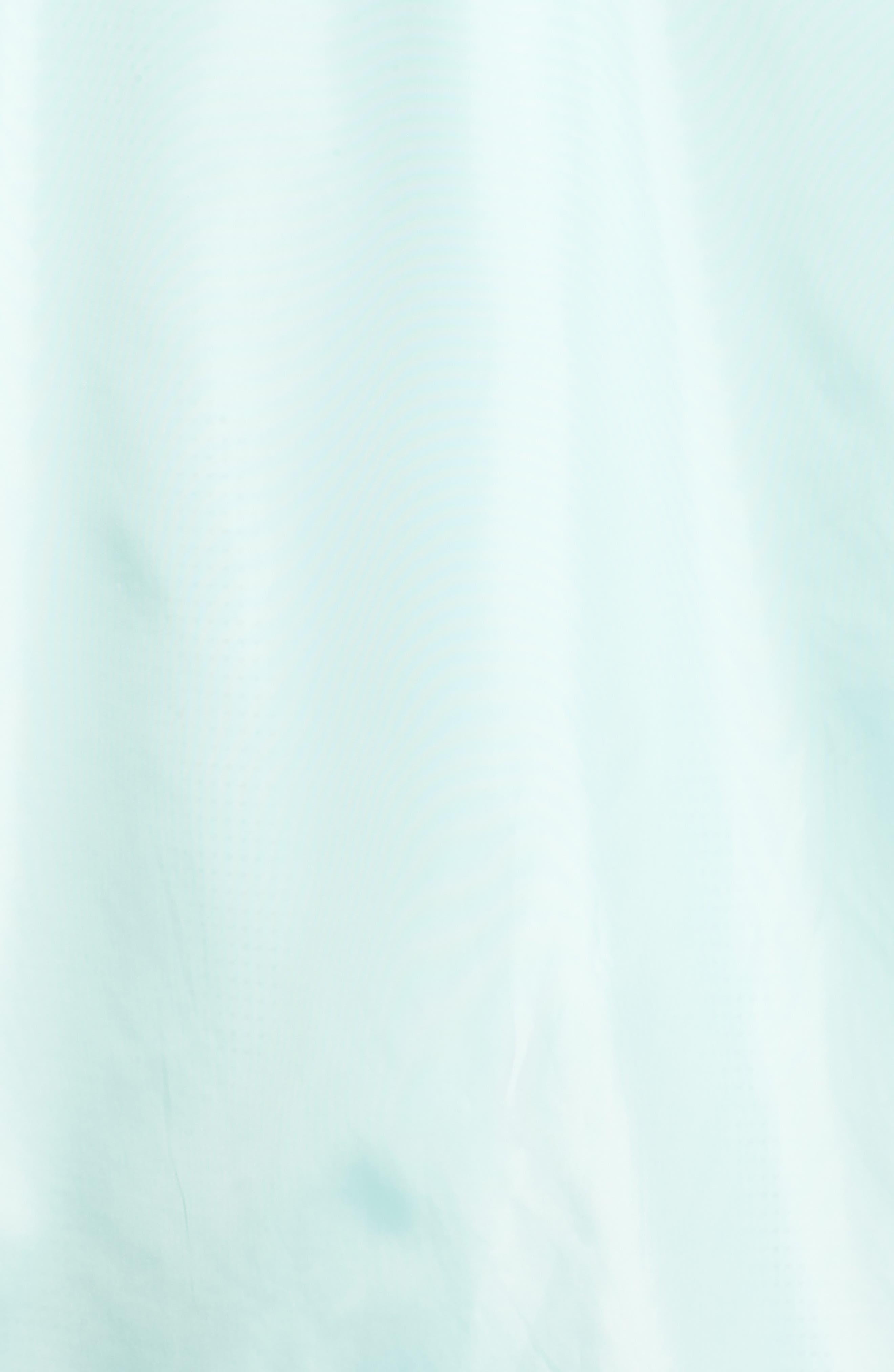 Longline Hooded Windbreaker,                             Alternate thumbnail 5, color,                             Green Lily