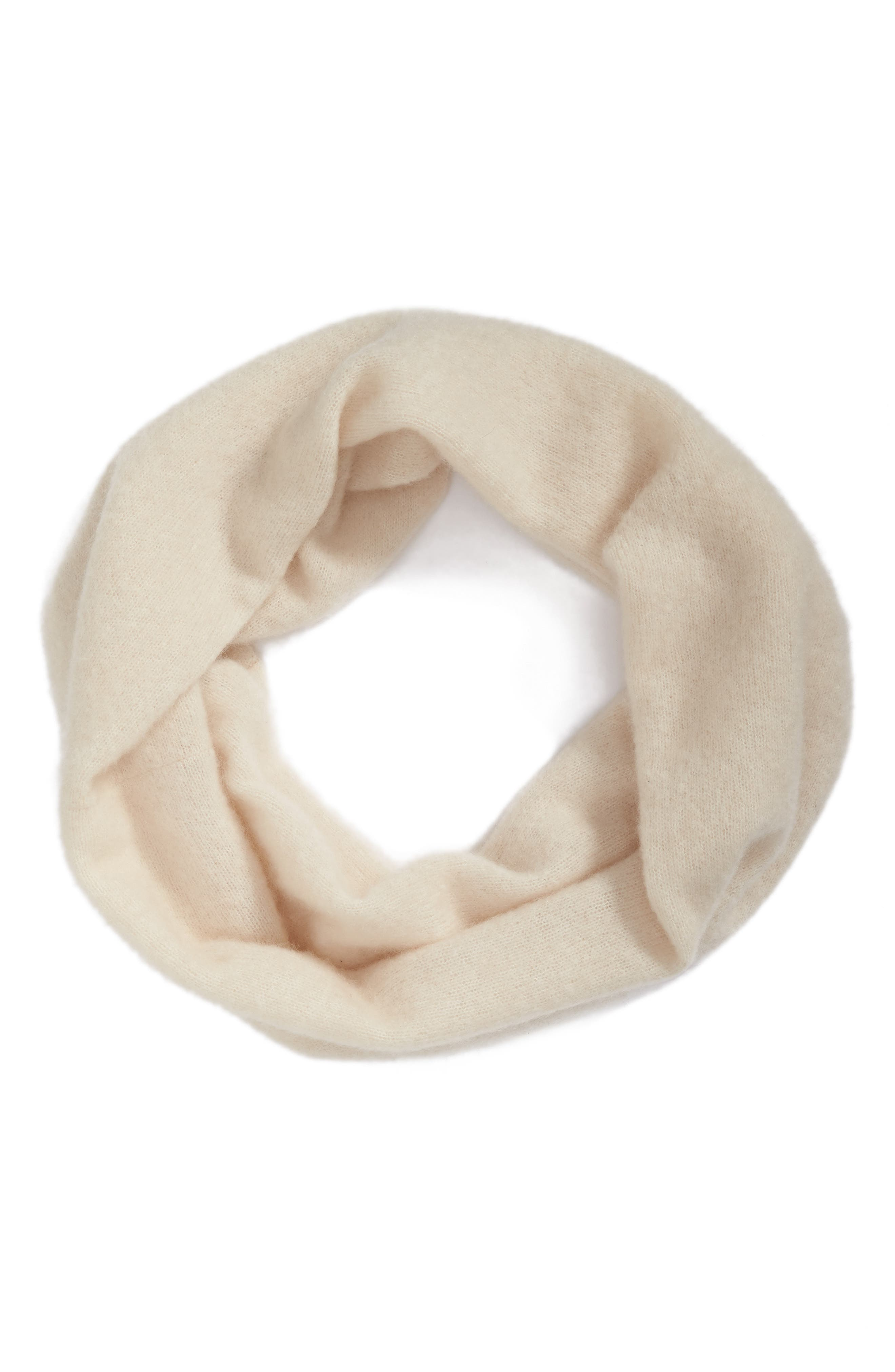 Cashmere Blend Cowl Scarf,                             Alternate thumbnail 2, color,                             Soft White
