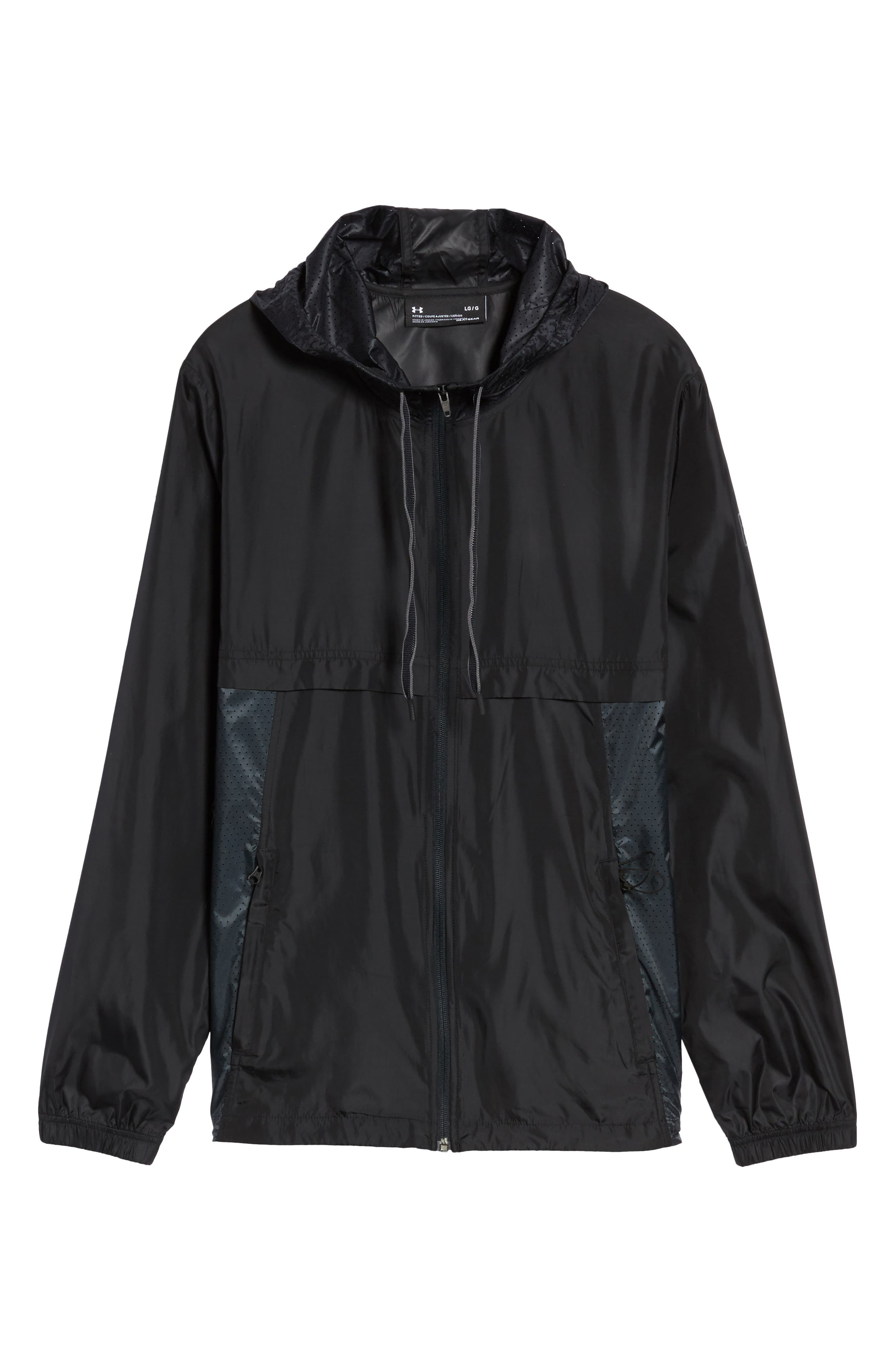 Sportstyle Windbreaker,                             Alternate thumbnail 2, color,                             Black / Overcast Grey