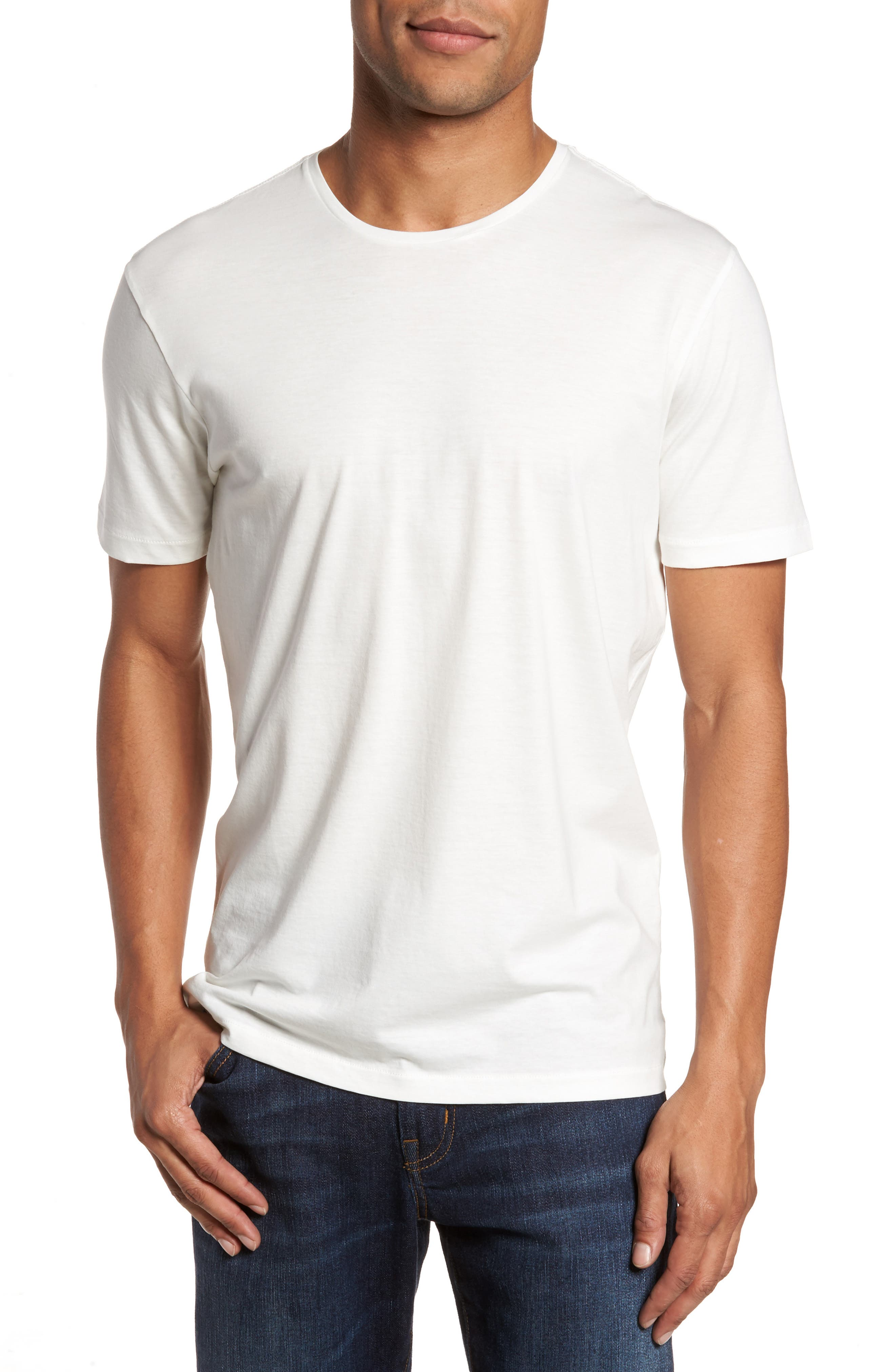 Refined T-Shirt,                         Main,                         color, White