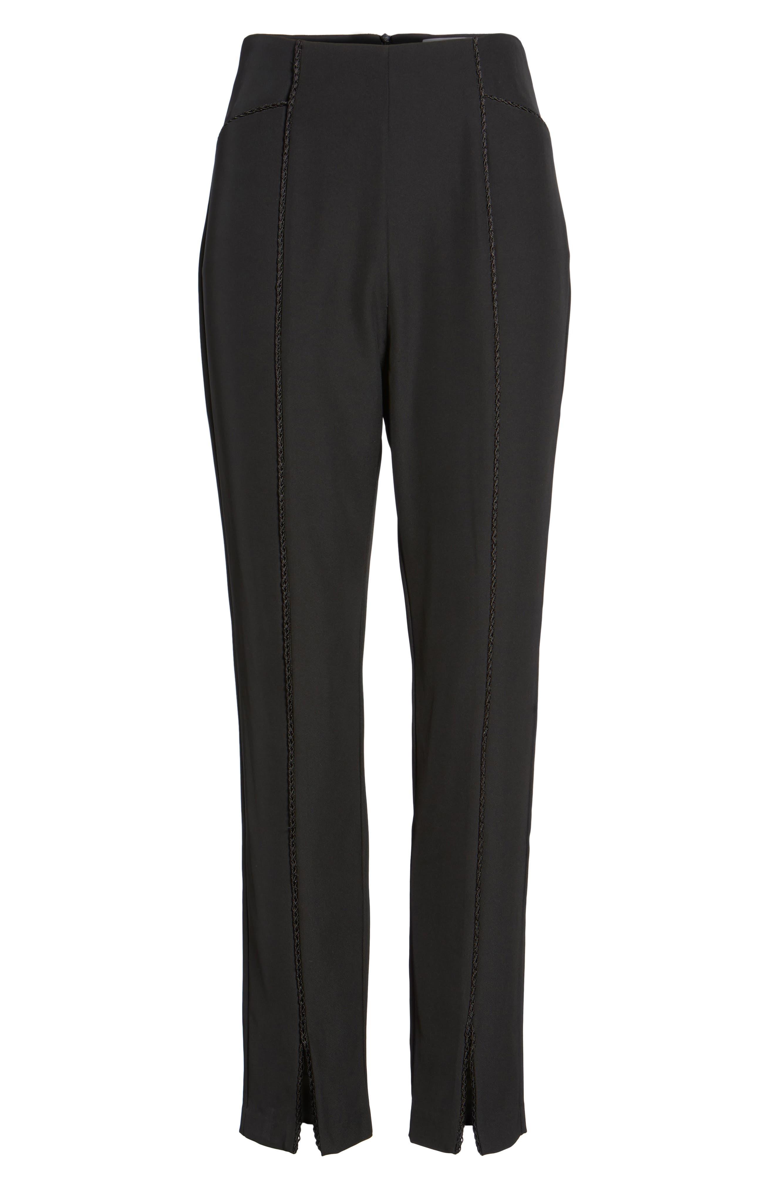Ceremony Crop Trousers,                             Alternate thumbnail 6, color,                             Black