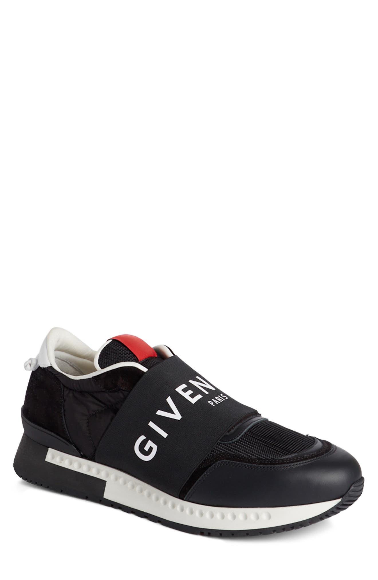 Logo Elastic Laceless Sneaker,                         Main,                         color, Black