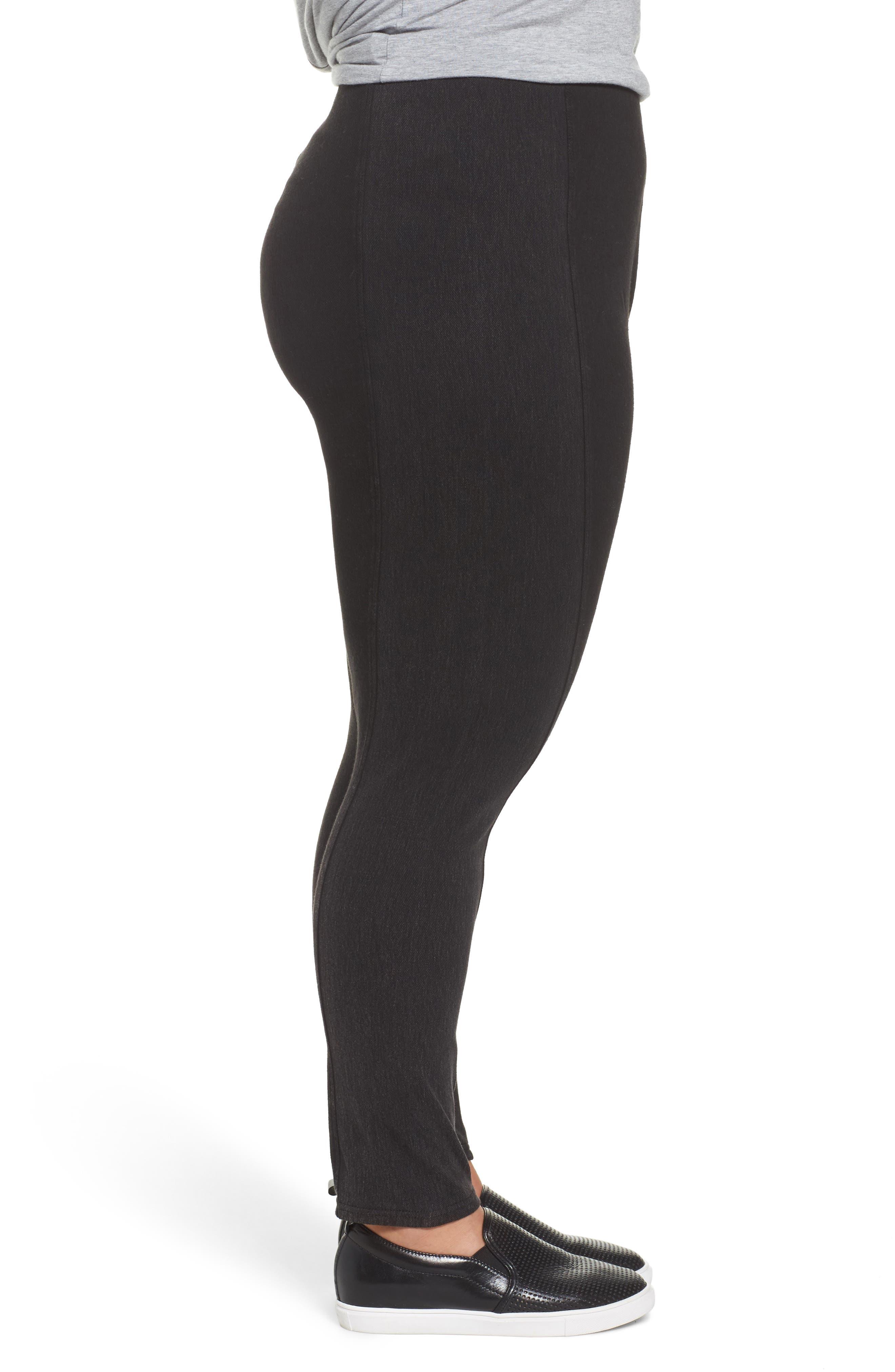 Alternate Image 3  - Lyssé Marley Denim Leggings (Plus Size)