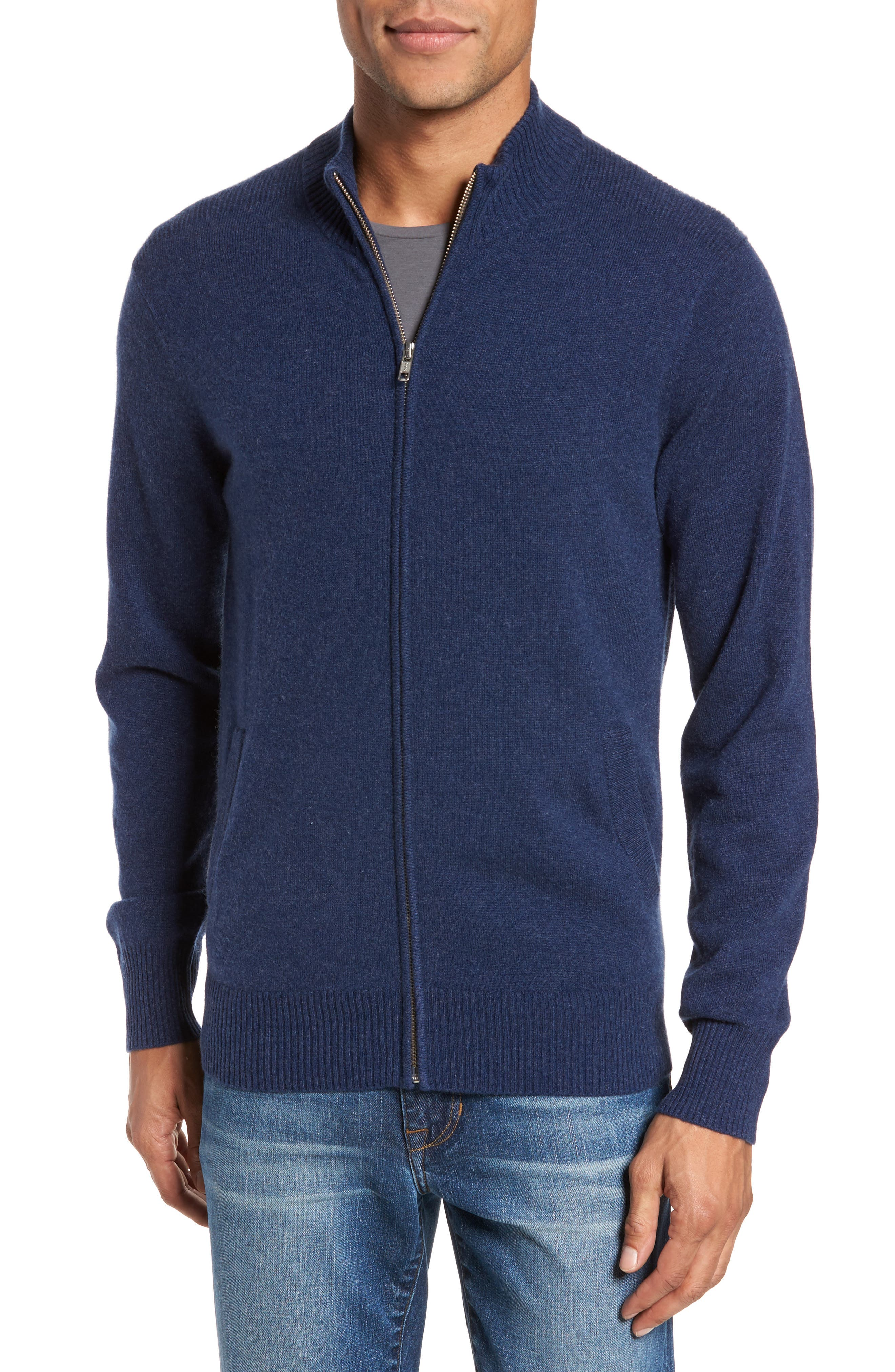 Bonobos Cashmere Zip Sweater