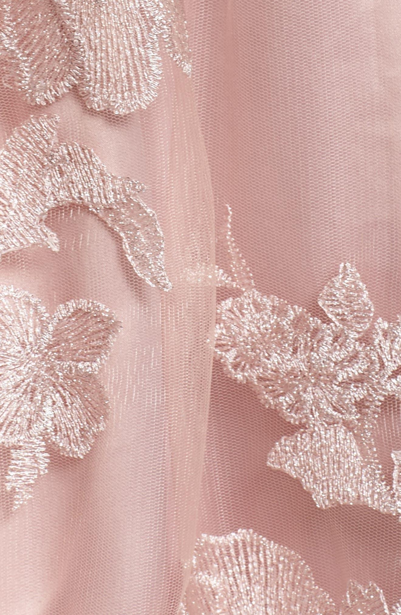 Floral Embroidered Skirt,                             Alternate thumbnail 5, color,                             Blush