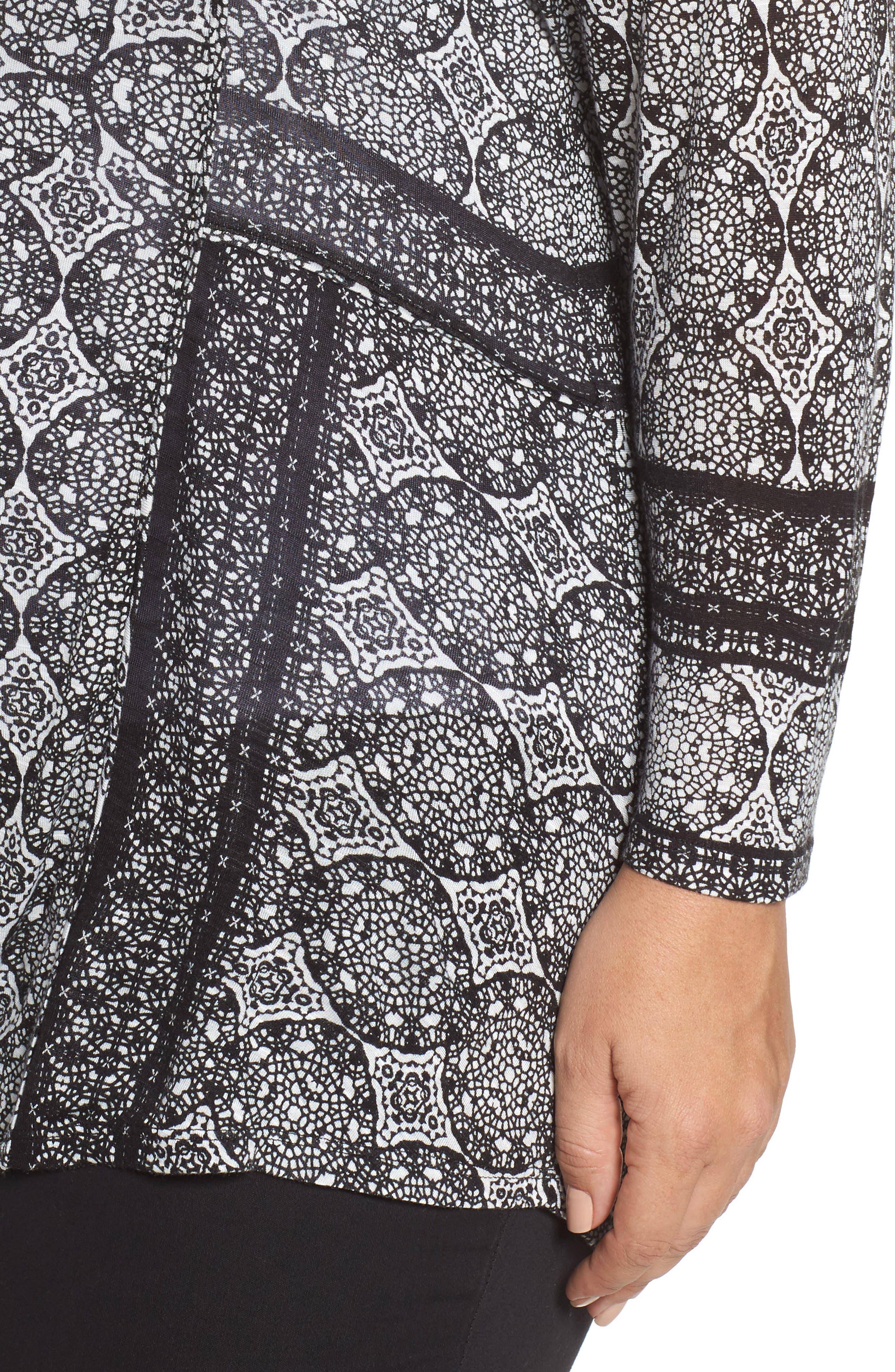 Alternate Image 4  - Lucky Brand Geo Print Button-Up Shirt (Plus Size)