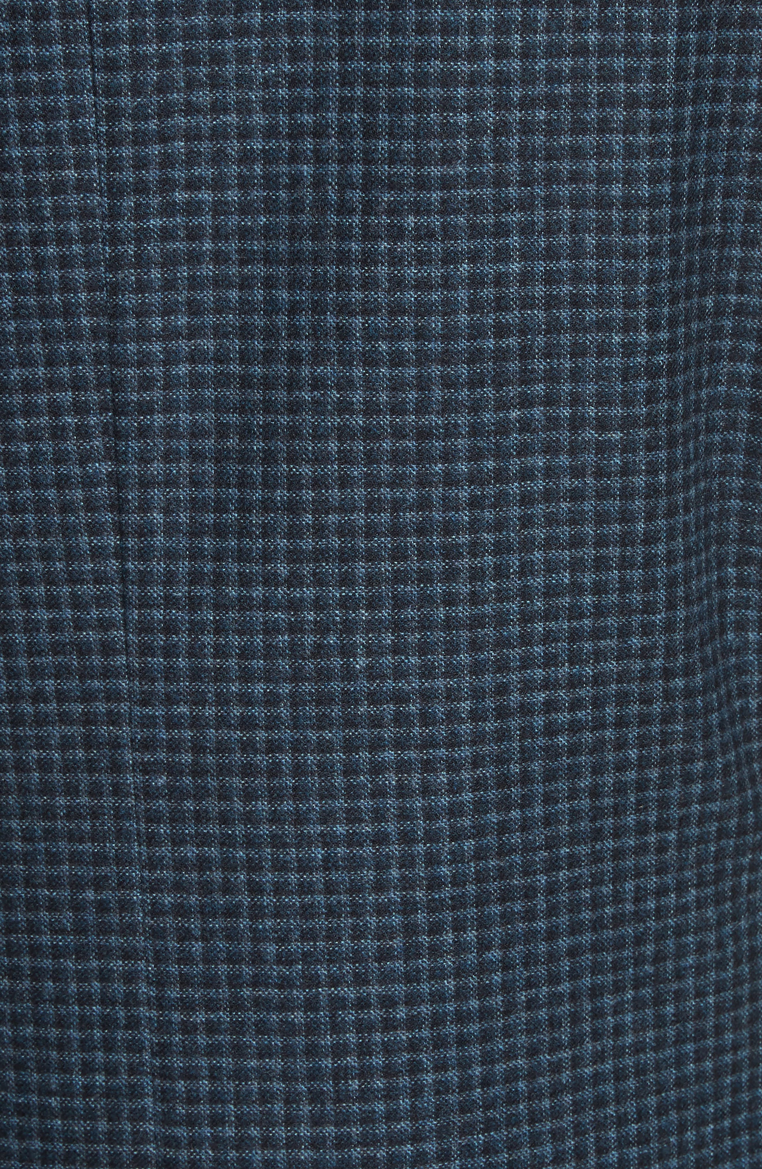 Classic Fit Check Wool & Cashmere Sport Coat,                             Alternate thumbnail 5, color,                             Navy
