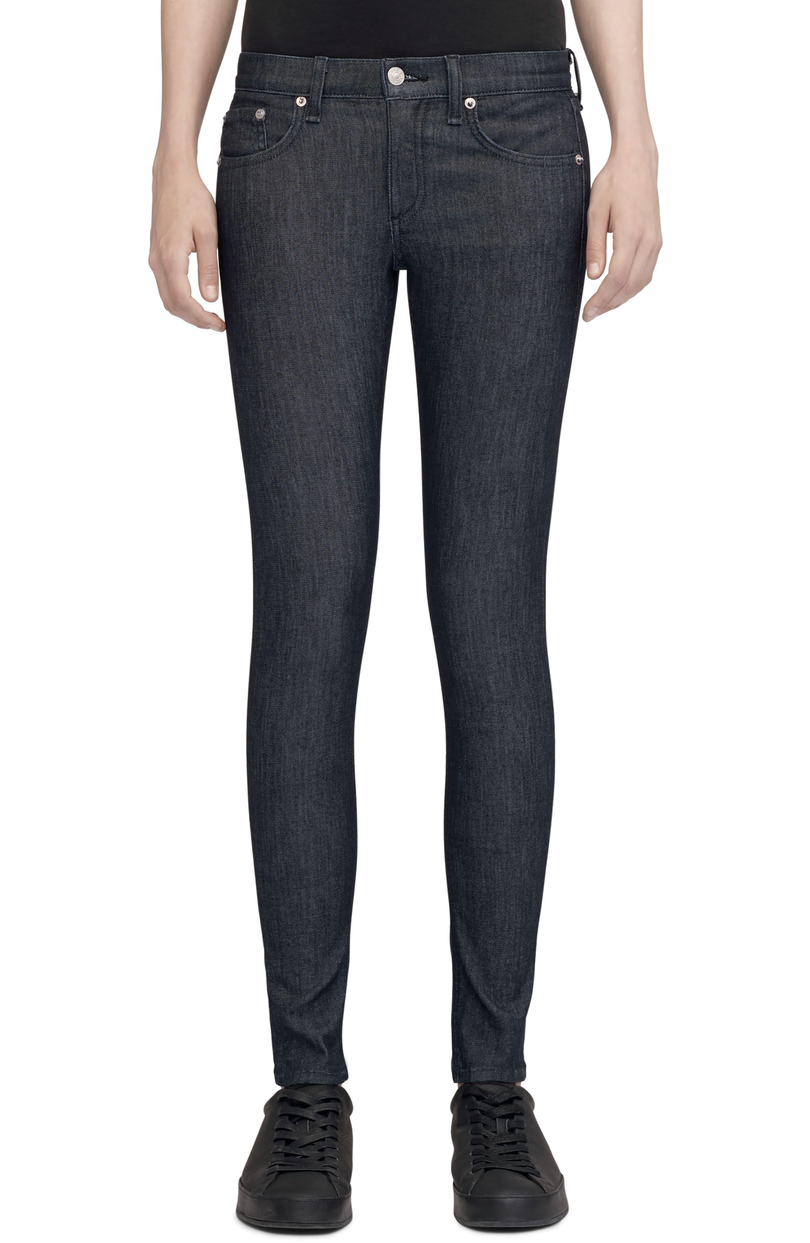 Alternate Image 1 Selected - rag & bone/JEAN Skinny Jeans (Indigo)