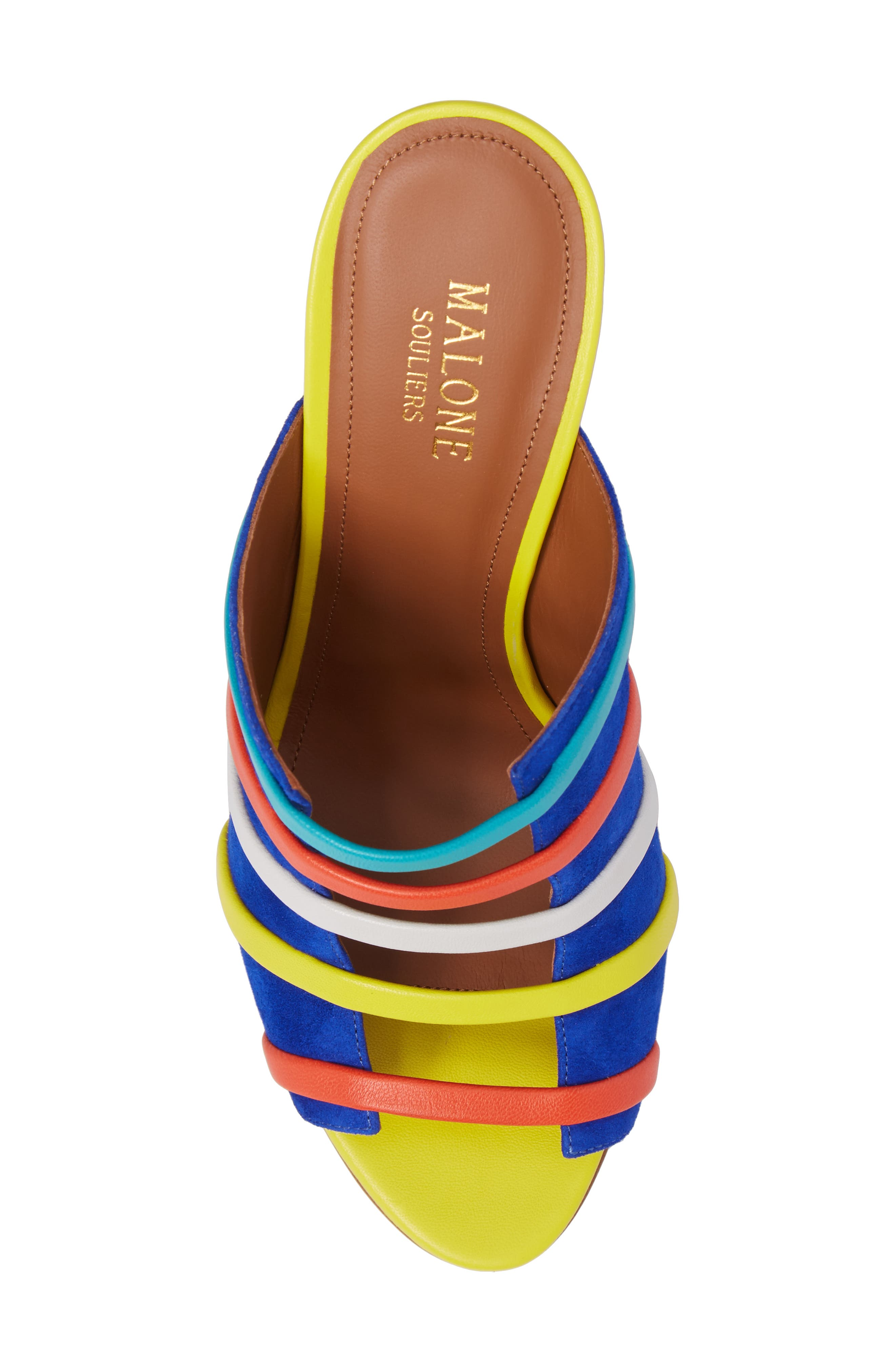 Zoe Banded Mule,                             Alternate thumbnail 5, color,                             Electric Blue/ Flame/ Yellow