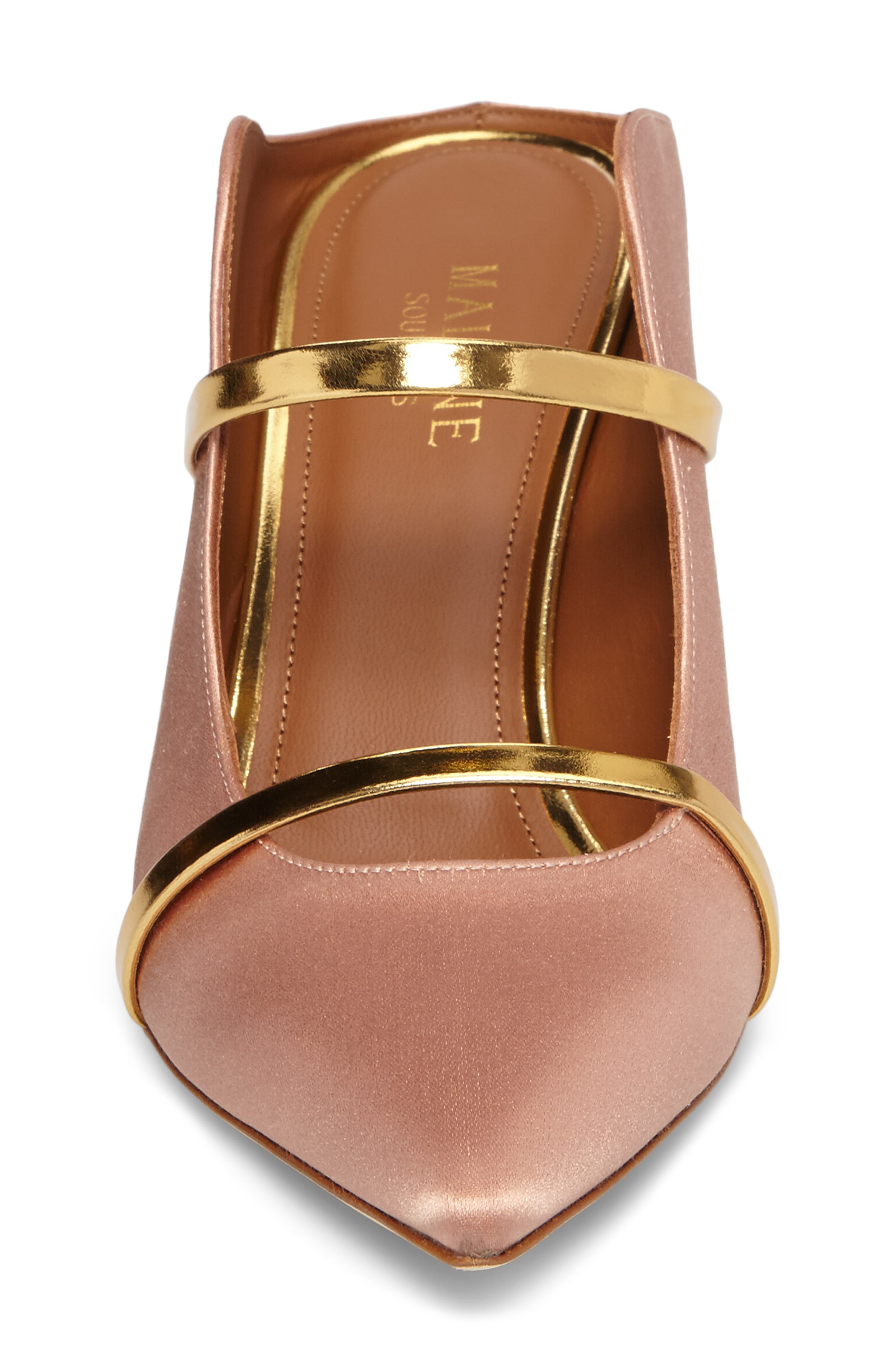 Maureen Double Band Mule,                             Alternate thumbnail 4, color,                             Blush/ Gold