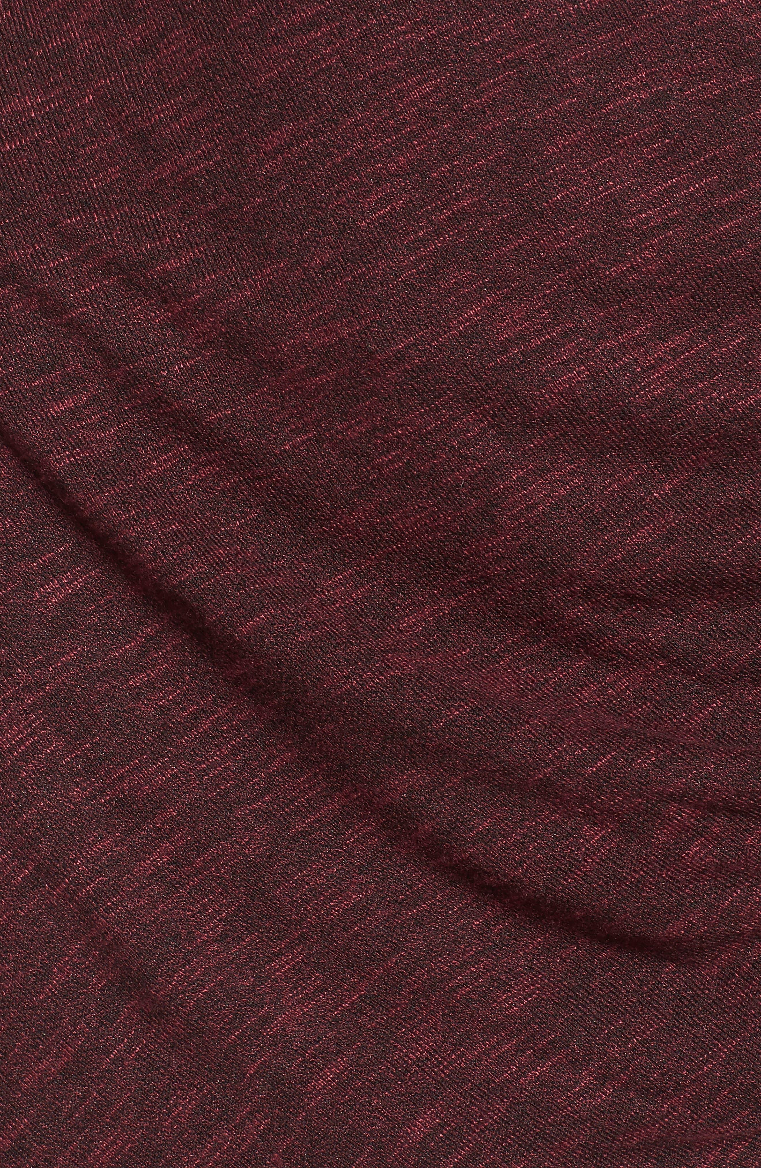 Ruched Knit Dress,                             Alternate thumbnail 5, color,                             Zinfandel
