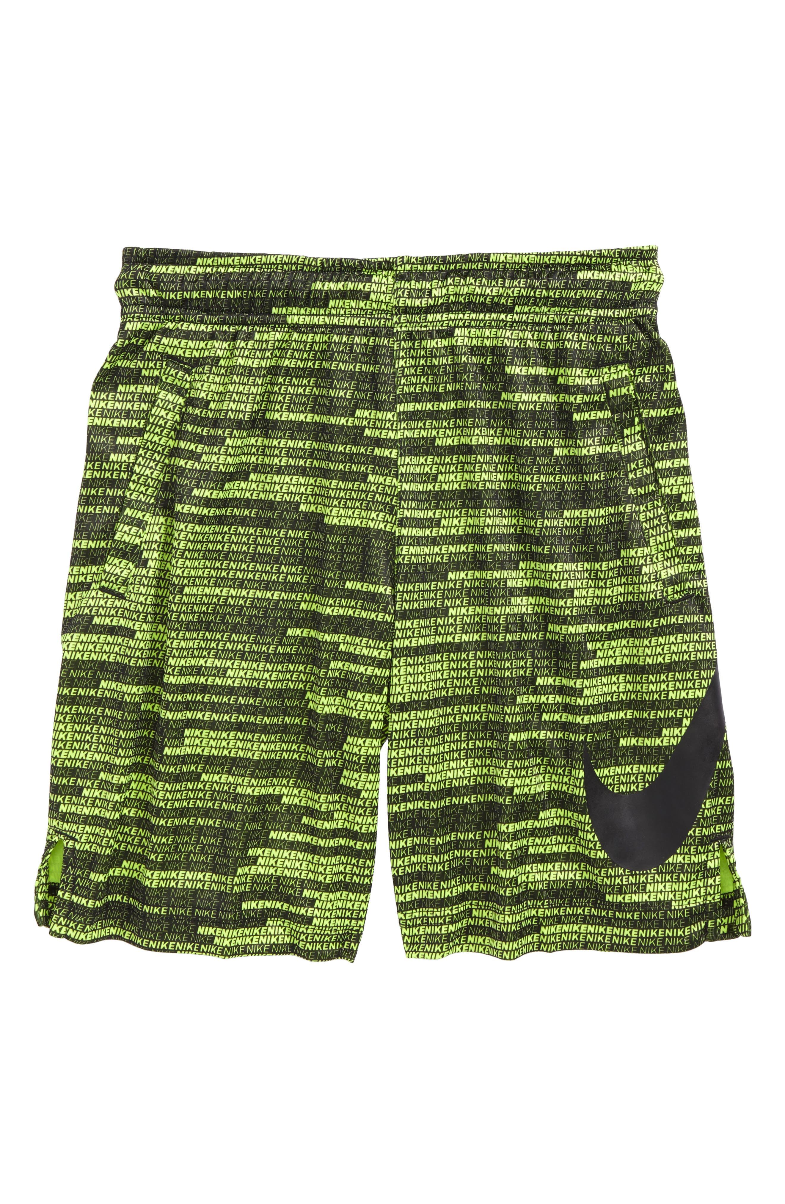 Dry Athletic Shorts,                             Main thumbnail 1, color,                             Volt