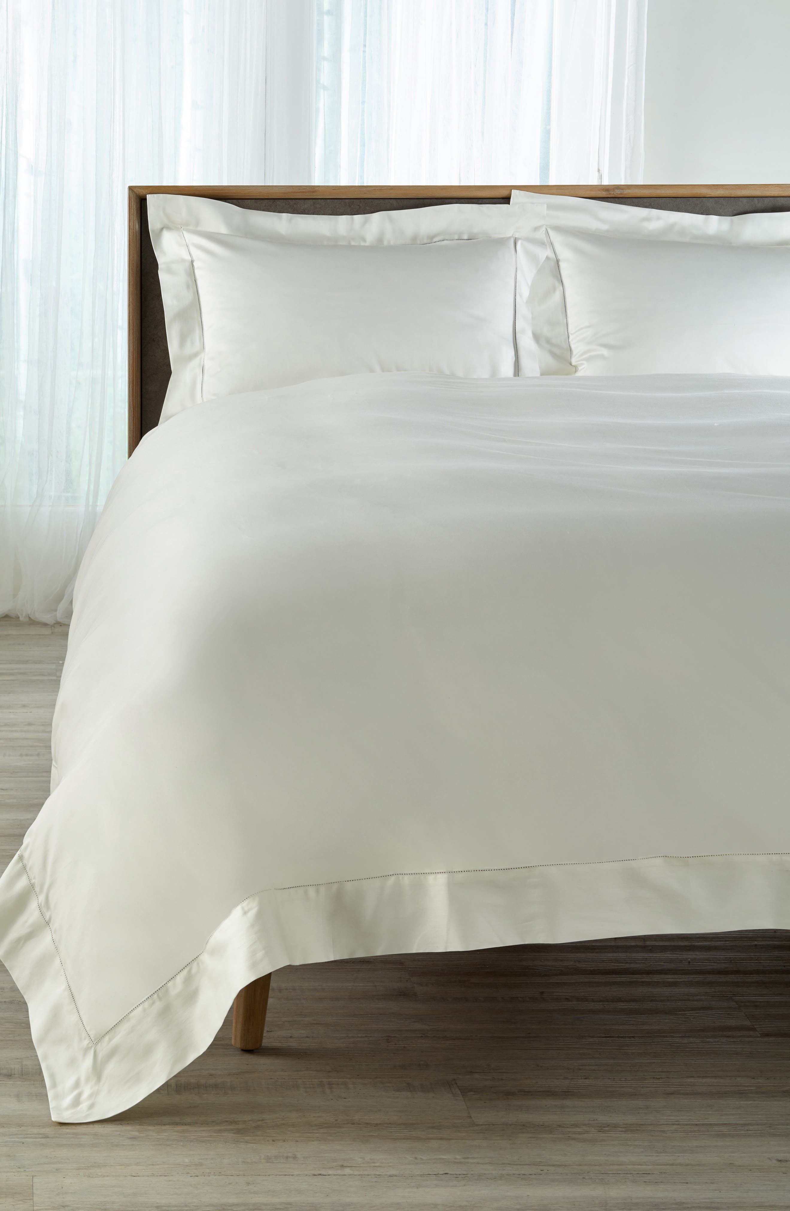 Fiona Duvet Cover,                             Main thumbnail 1, color,                             Ivory