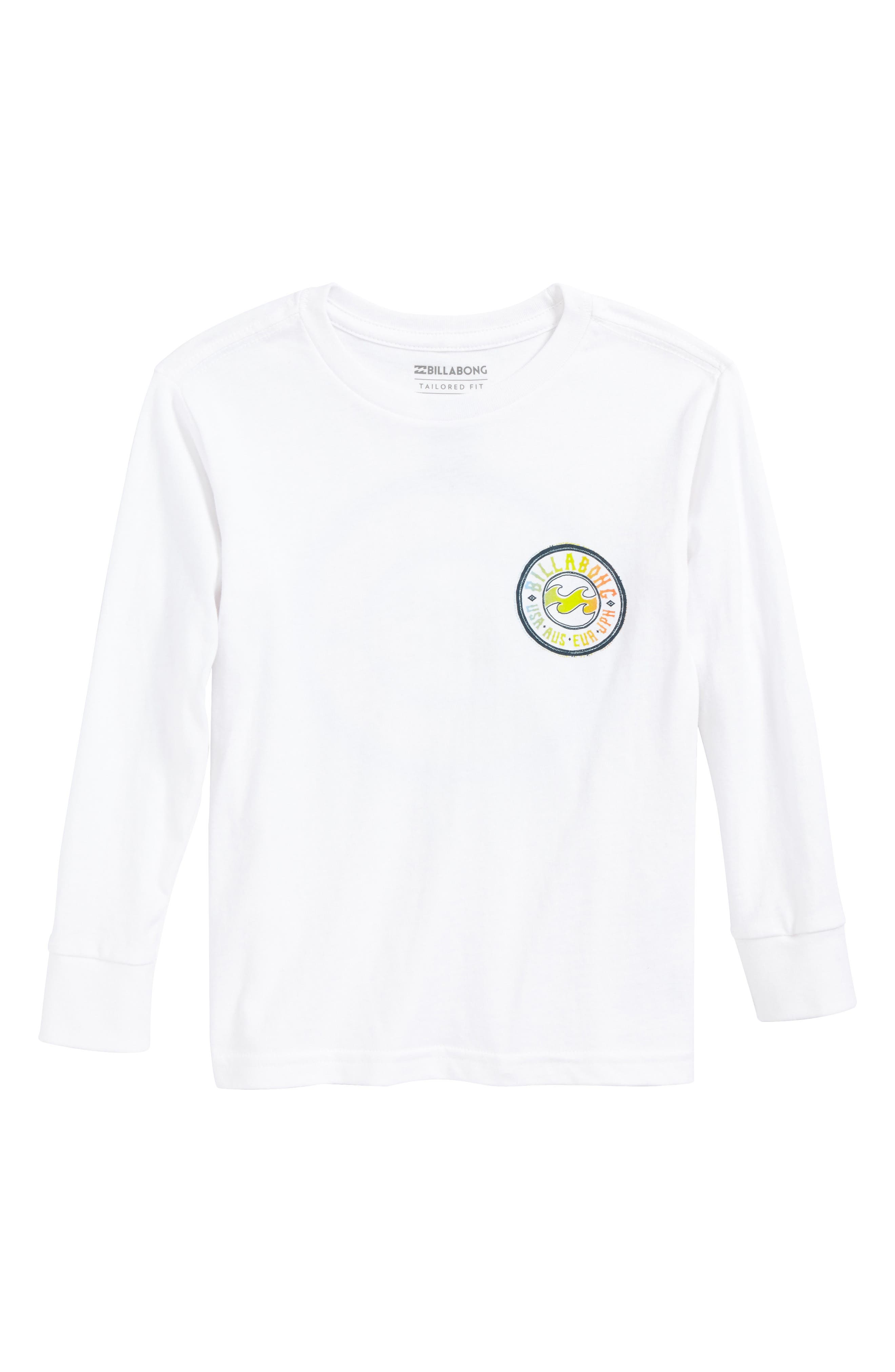Flip Wave Long Sleeve Graphic T-Shirt,                         Main,                         color, White