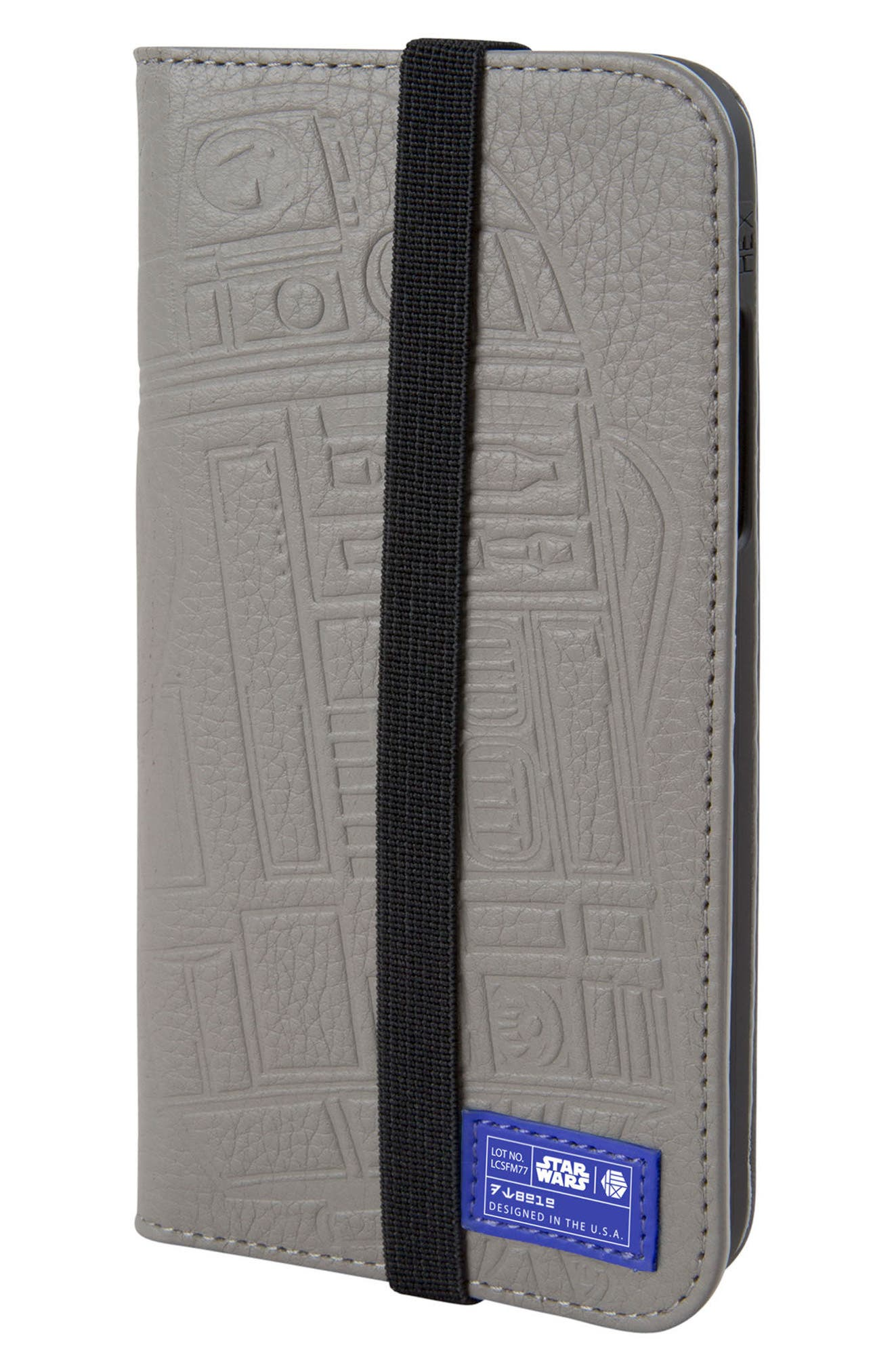 R2-D2 iPhone X Wallet Case,                             Main thumbnail 1, color,                             Grey