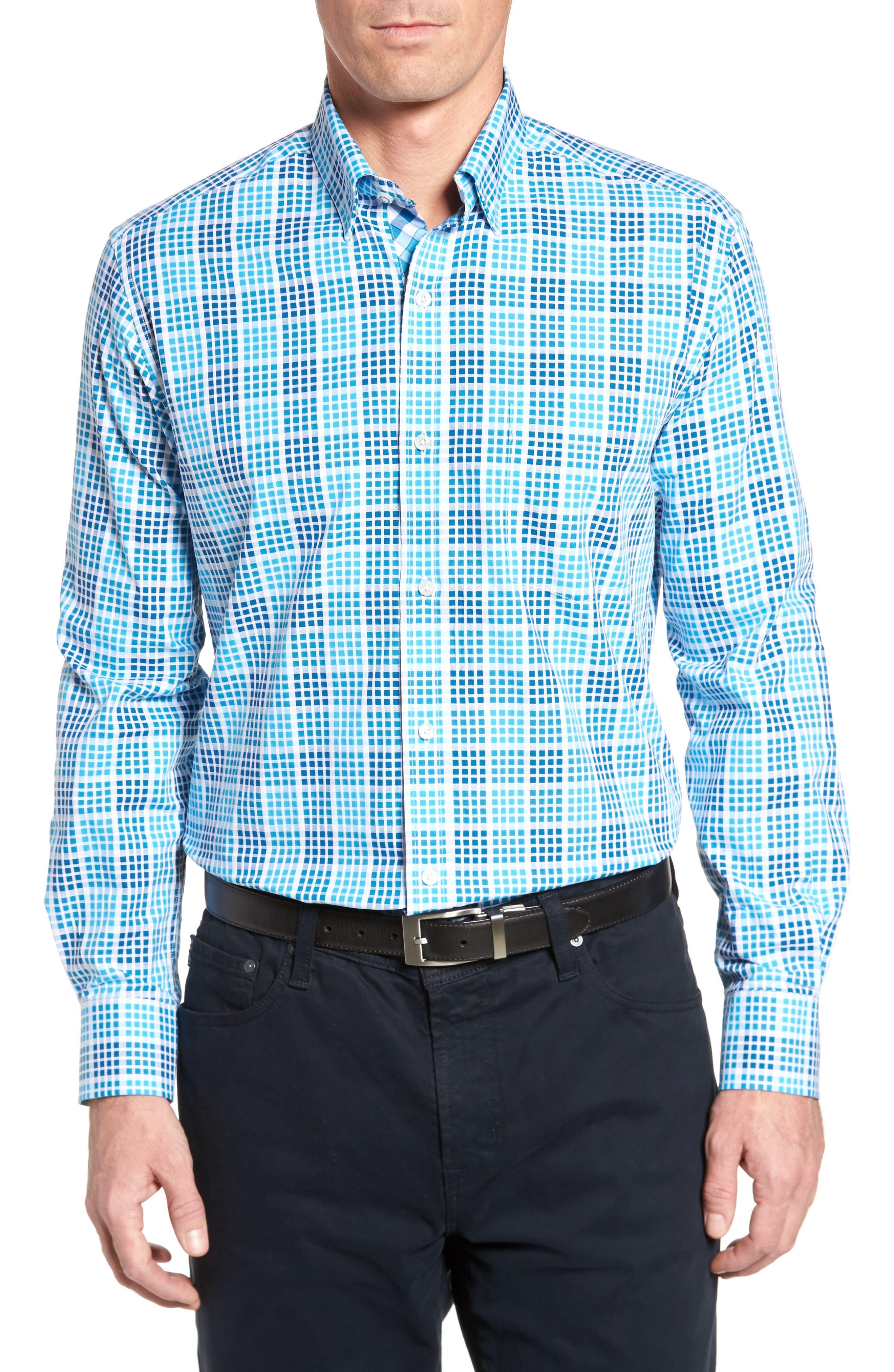 New Orleans Sport Shirt,                         Main,                         color, Aqua