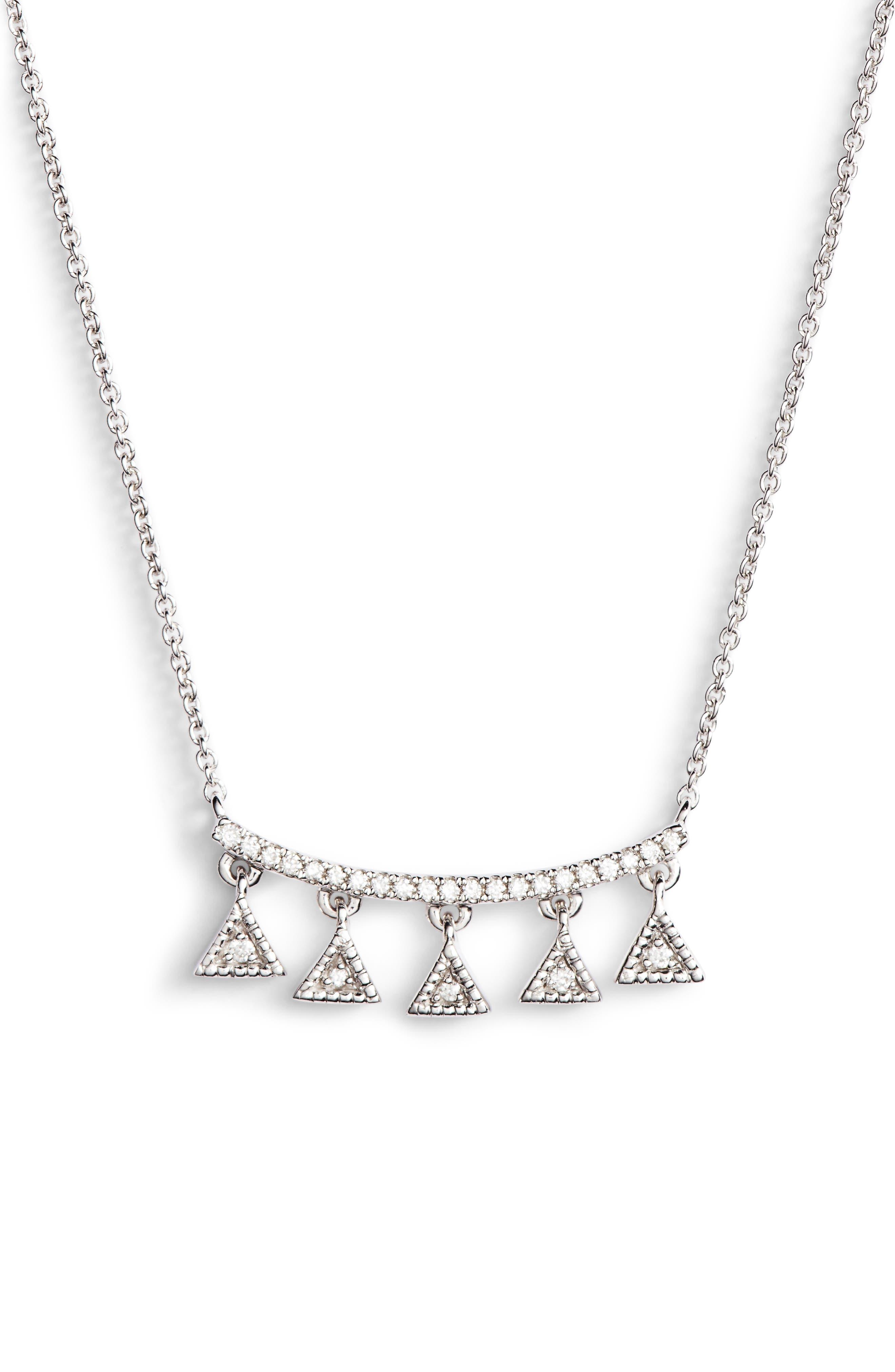 Main Image - Dana Rebecca Designs Emily Sarah Diamond Pendant Necklace