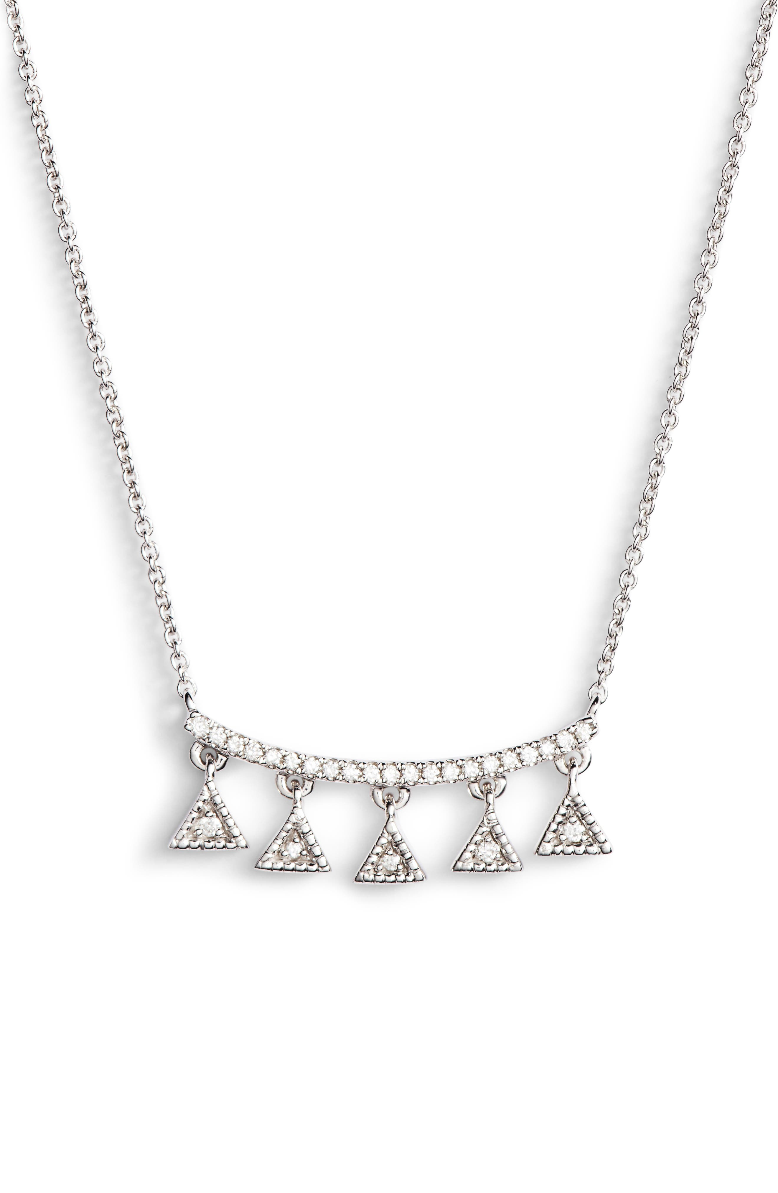 Emily Sarah Diamond Pendant Necklace,                         Main,                         color, White Gold
