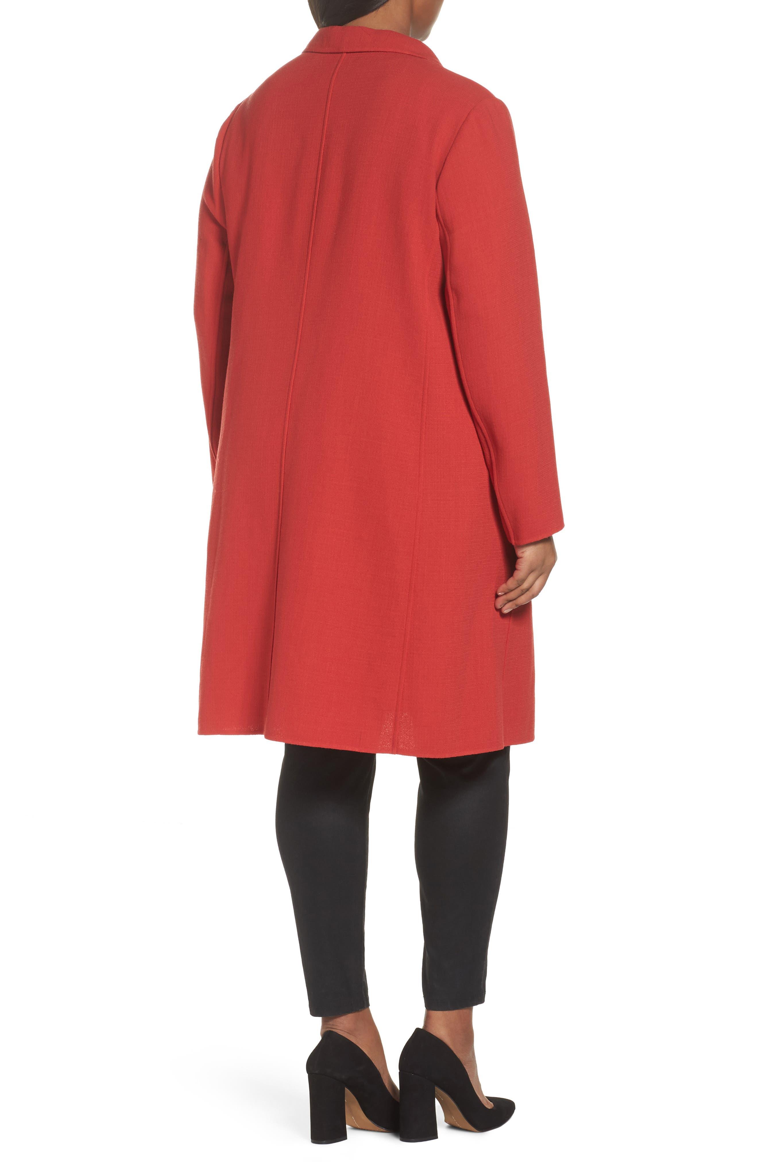Alternate Image 2  - Lafayette 148 New York Carmelle Nouveau Crepe Jacket (Plus Size)