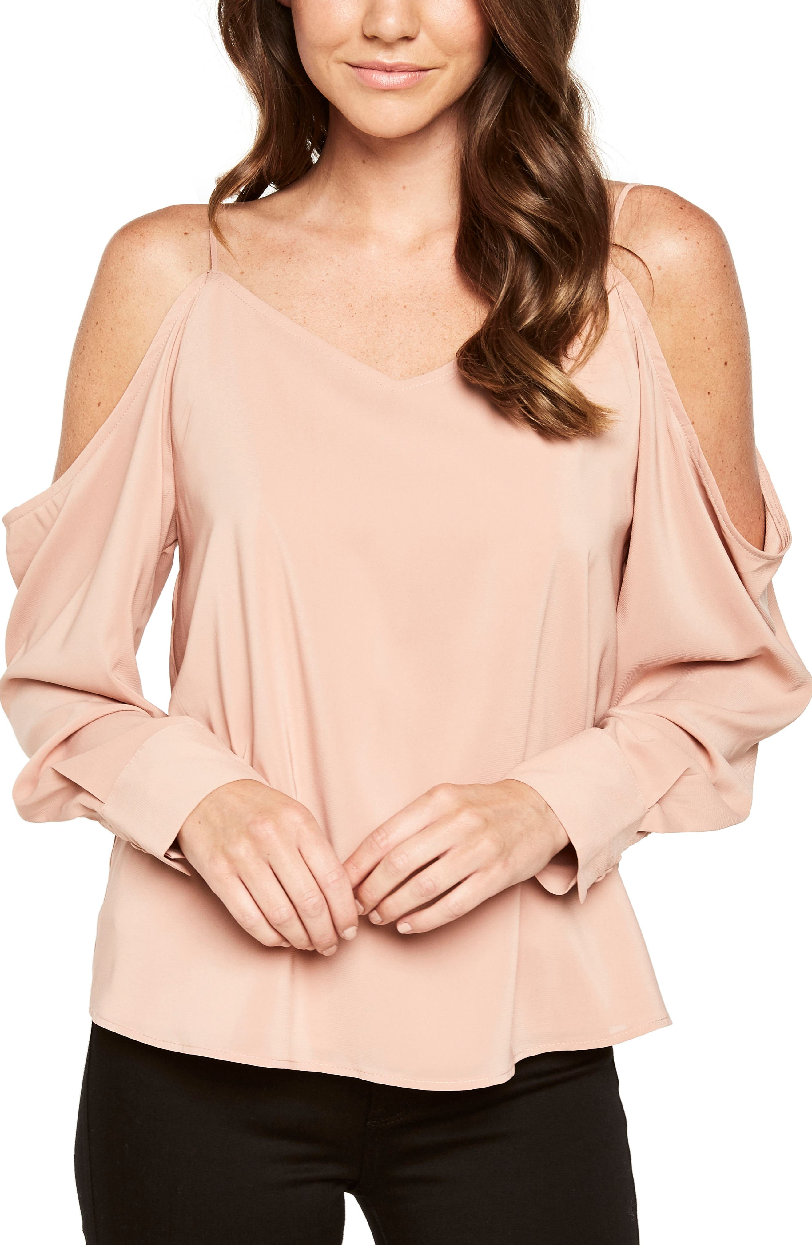 Main Image - Bardot Cold Shoulder Top