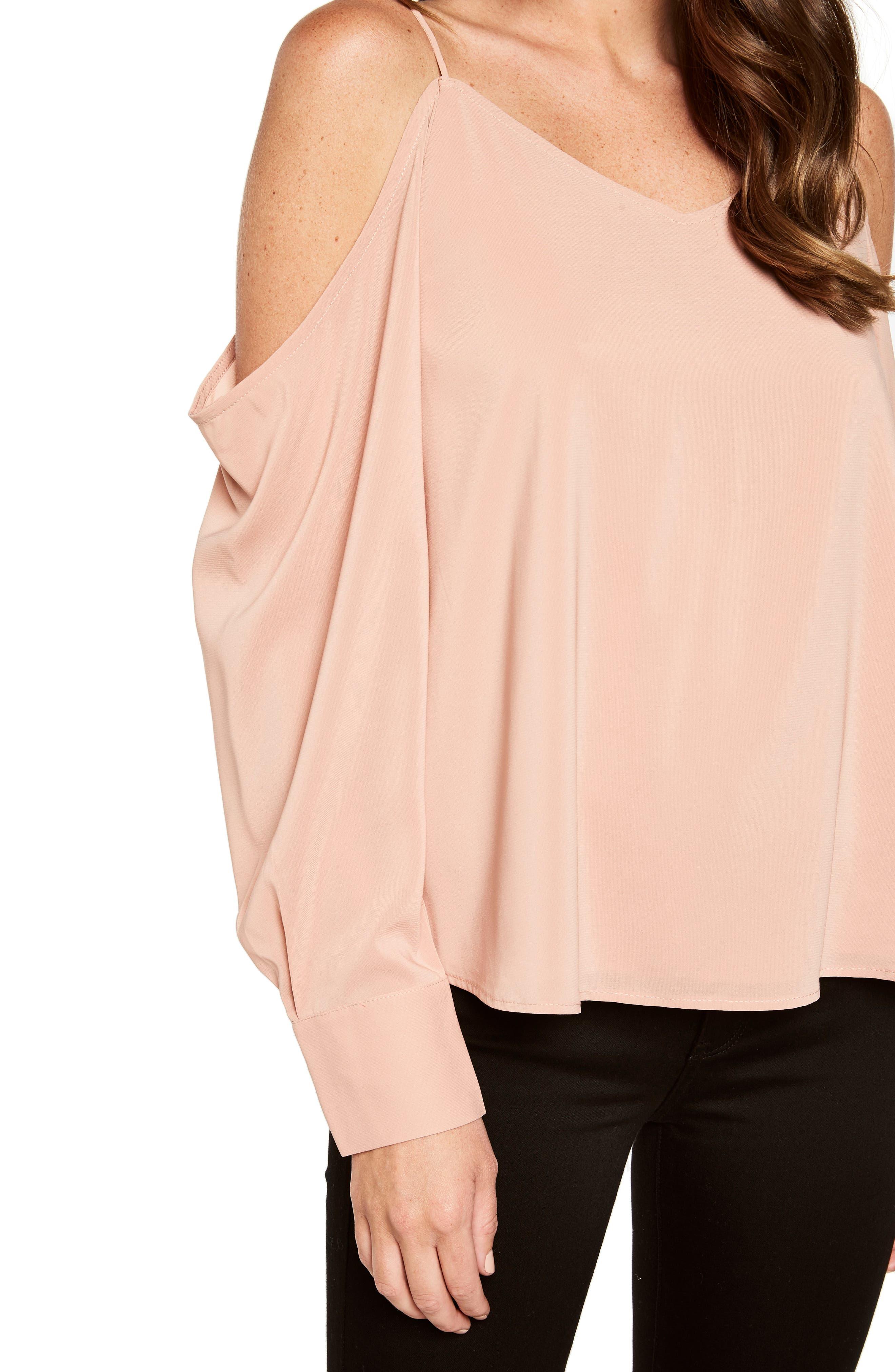 Alternate Image 5  - Bardot Cold Shoulder Top