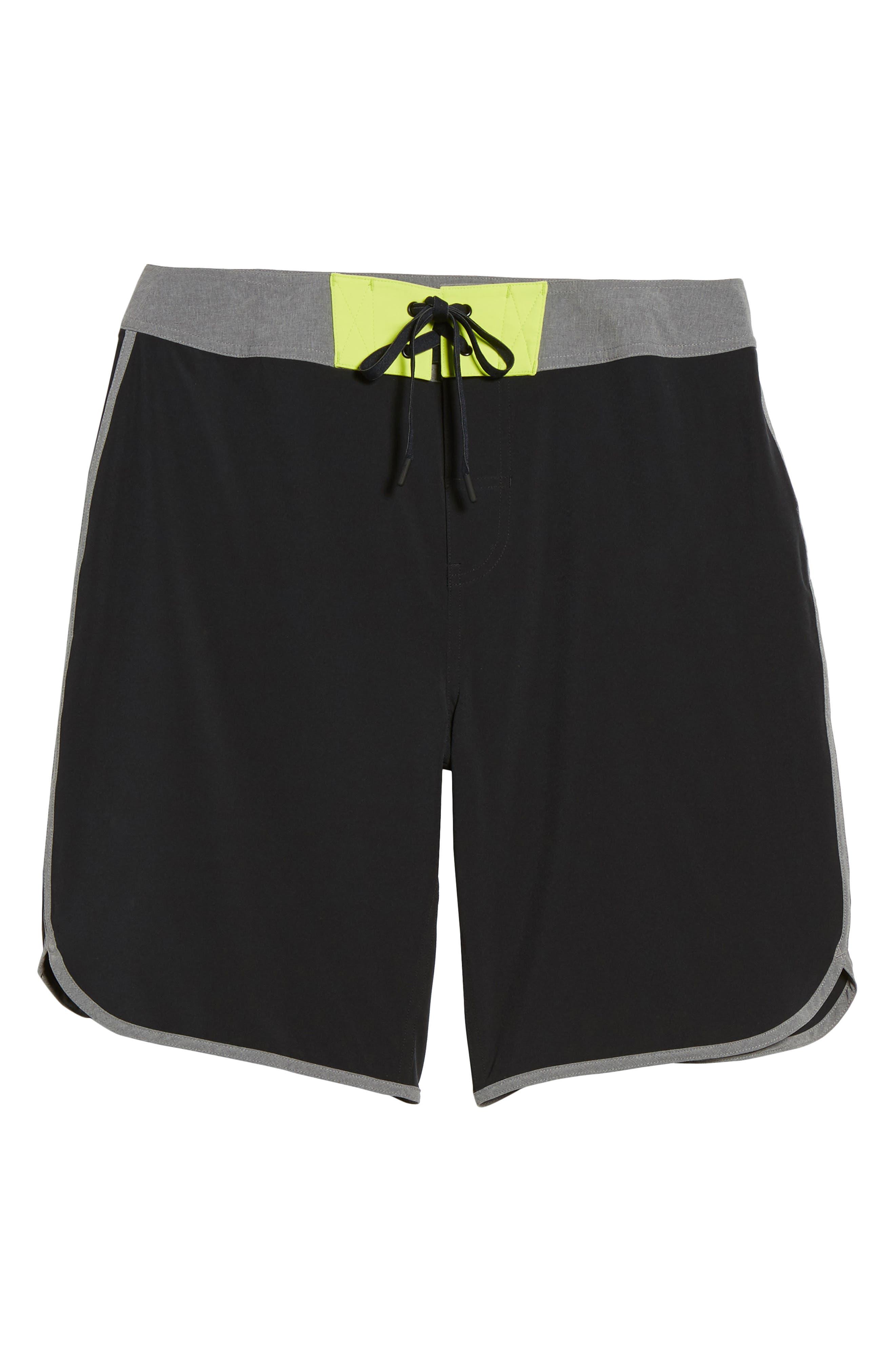 Flex Hybrid Athletic Shorts,                             Alternate thumbnail 6, color,                             Black
