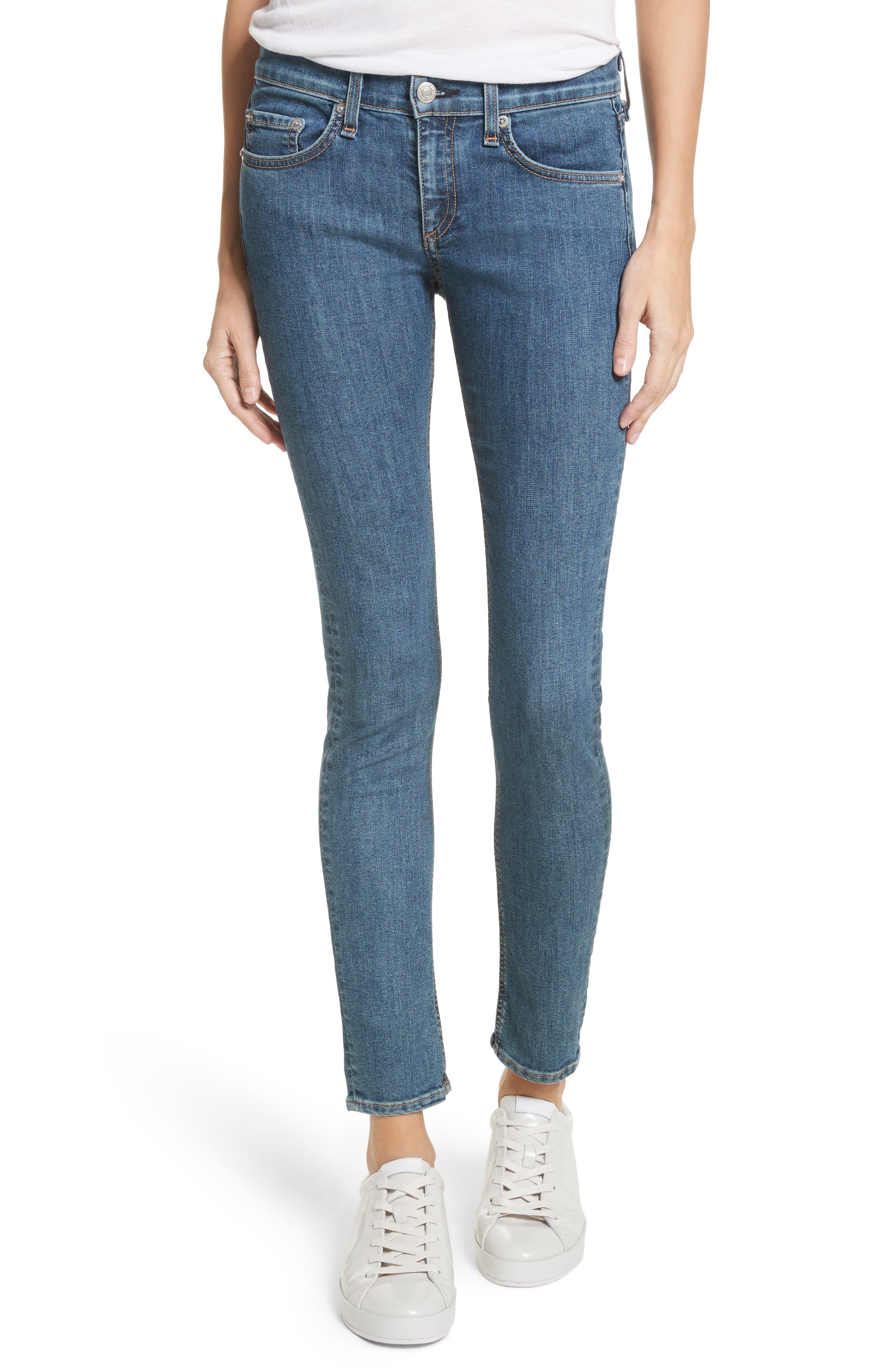 Skinny Jeans,                             Main thumbnail 1, color,                             Bloo