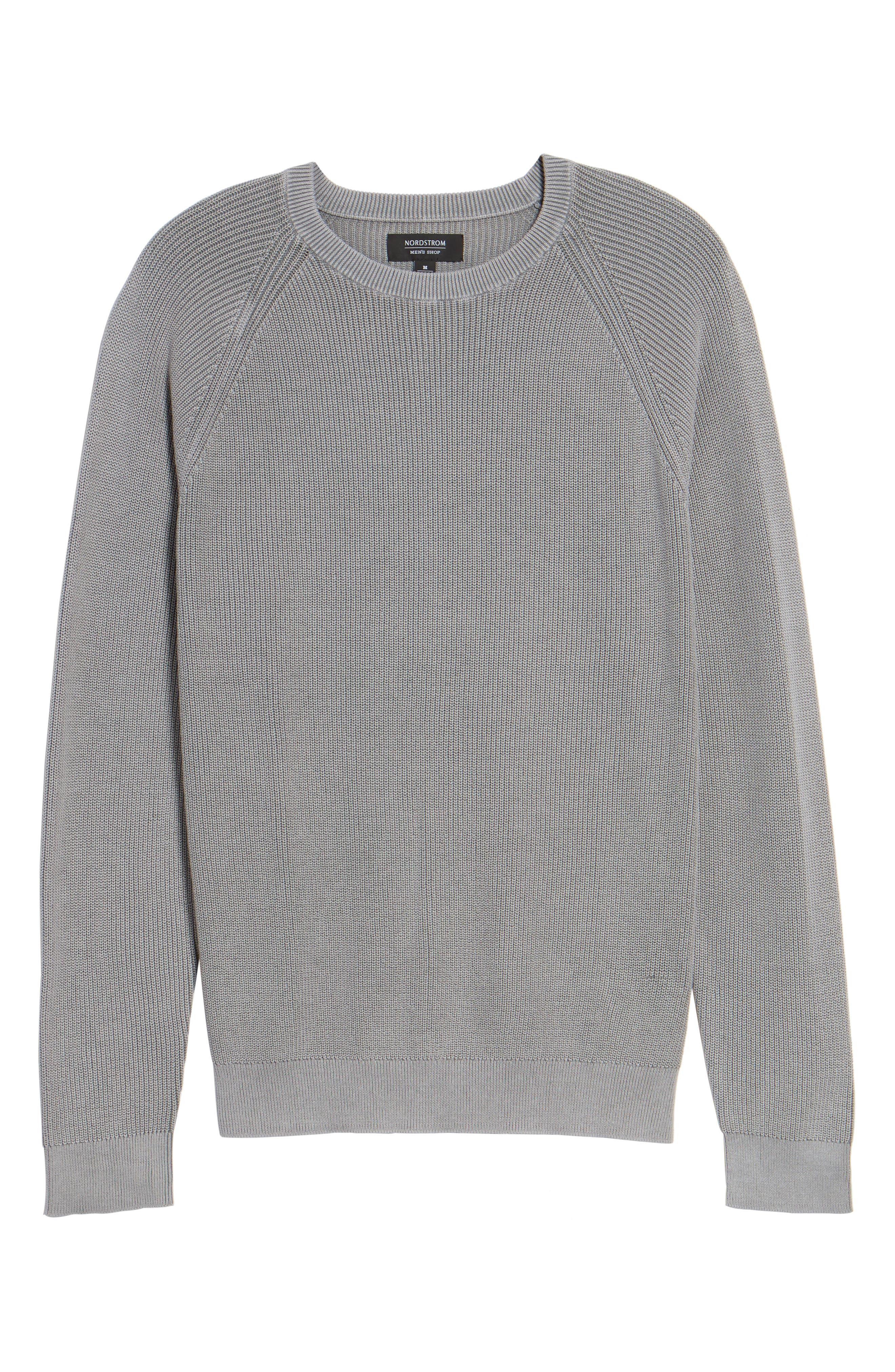 Crewneck Sweater,                             Alternate thumbnail 7, color,                             Grey Weather