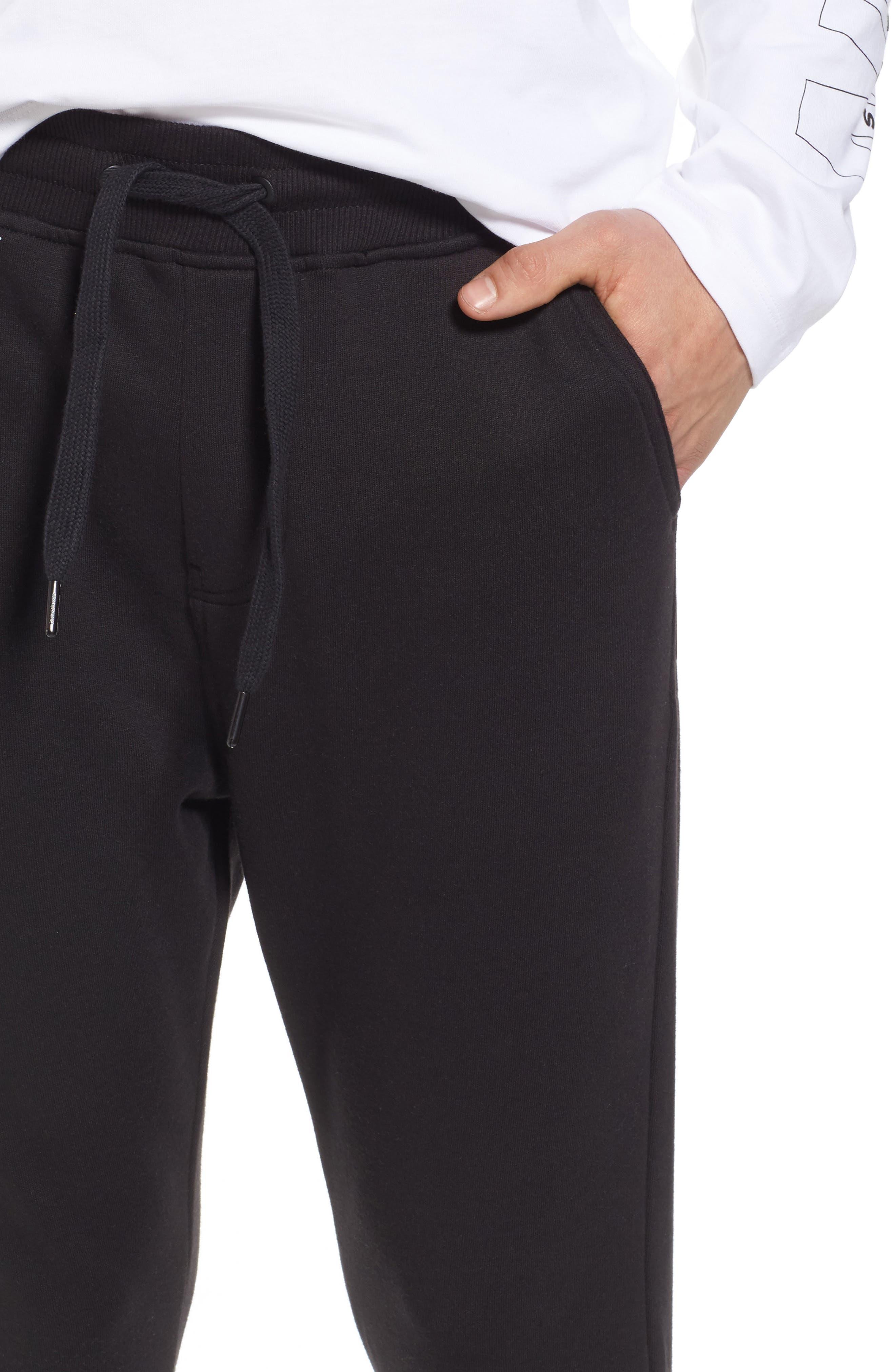 Sweatpants,                             Alternate thumbnail 4, color,                             Black