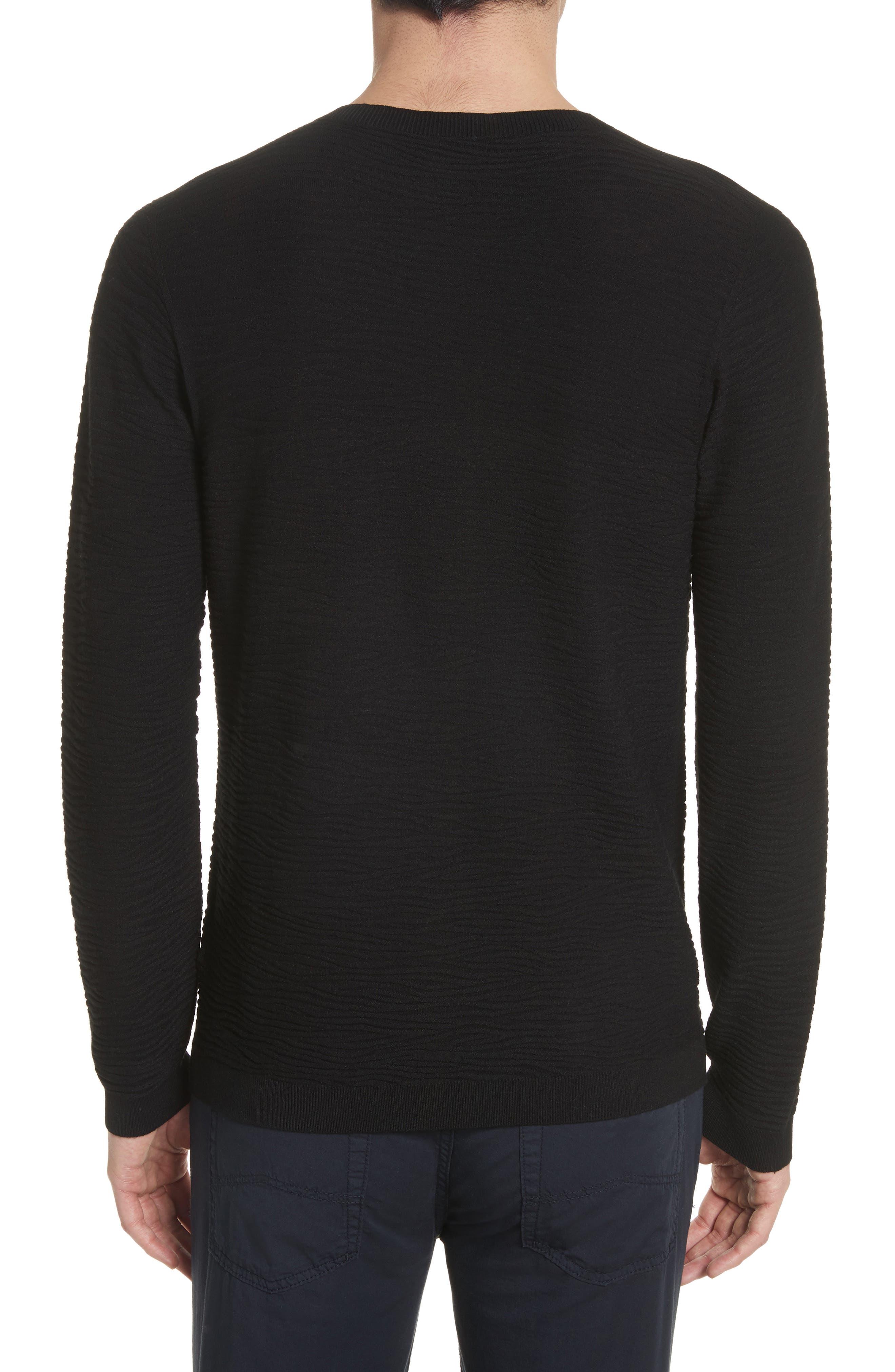 Slim Fit Allover Links Sweater,                             Alternate thumbnail 2, color,                             Black