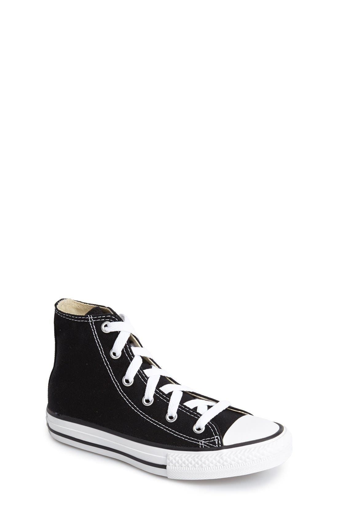 converse shoes for girls high cut black. main image - converse chuck taylor® high top sneaker (toddler, little kid \u0026 shoes for girls cut black