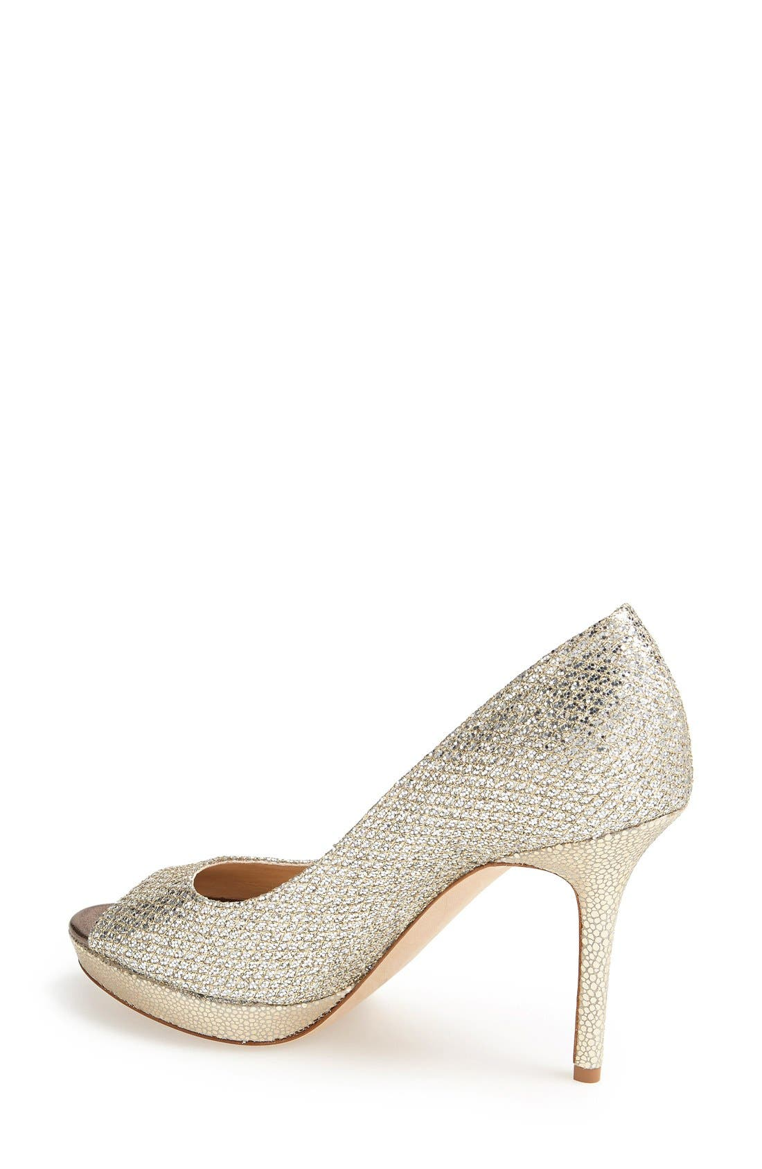Alternate Image 2  - Jimmy Choo Luna Peep Toe Pump (Women)