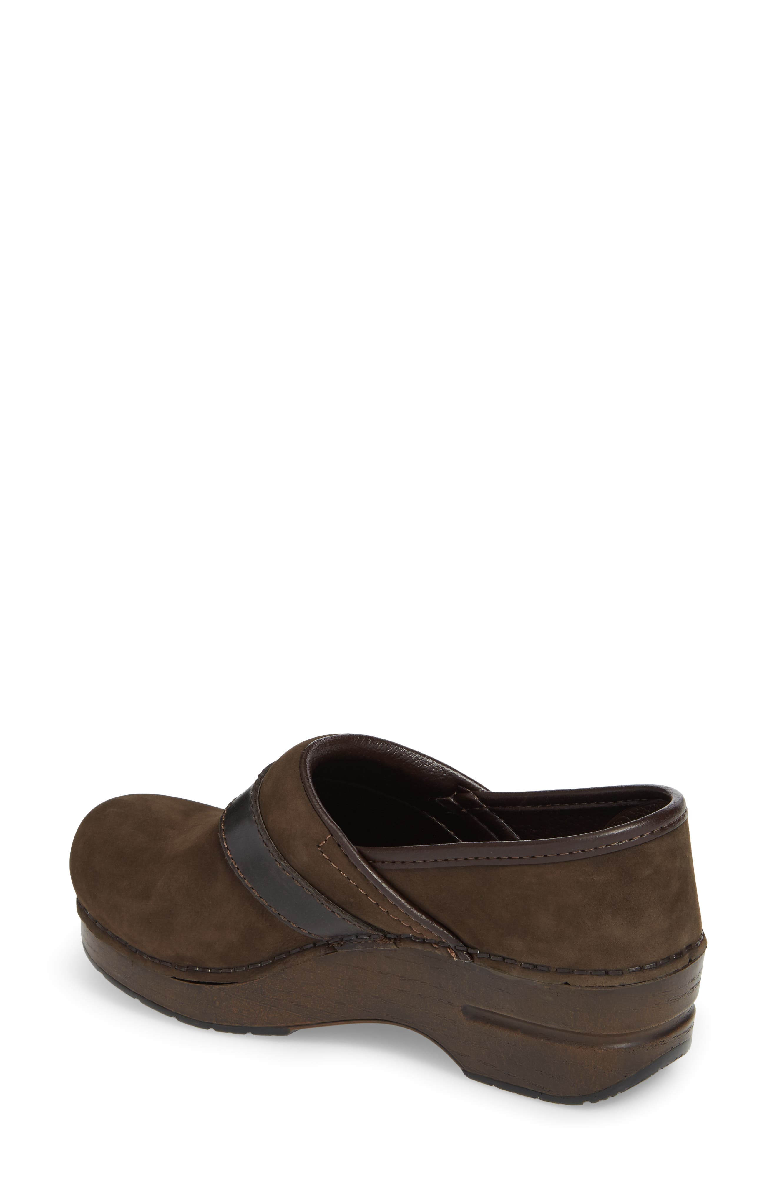 Pammy Clog,                             Alternate thumbnail 2, color,                             Brown Milled Nubuck Leather