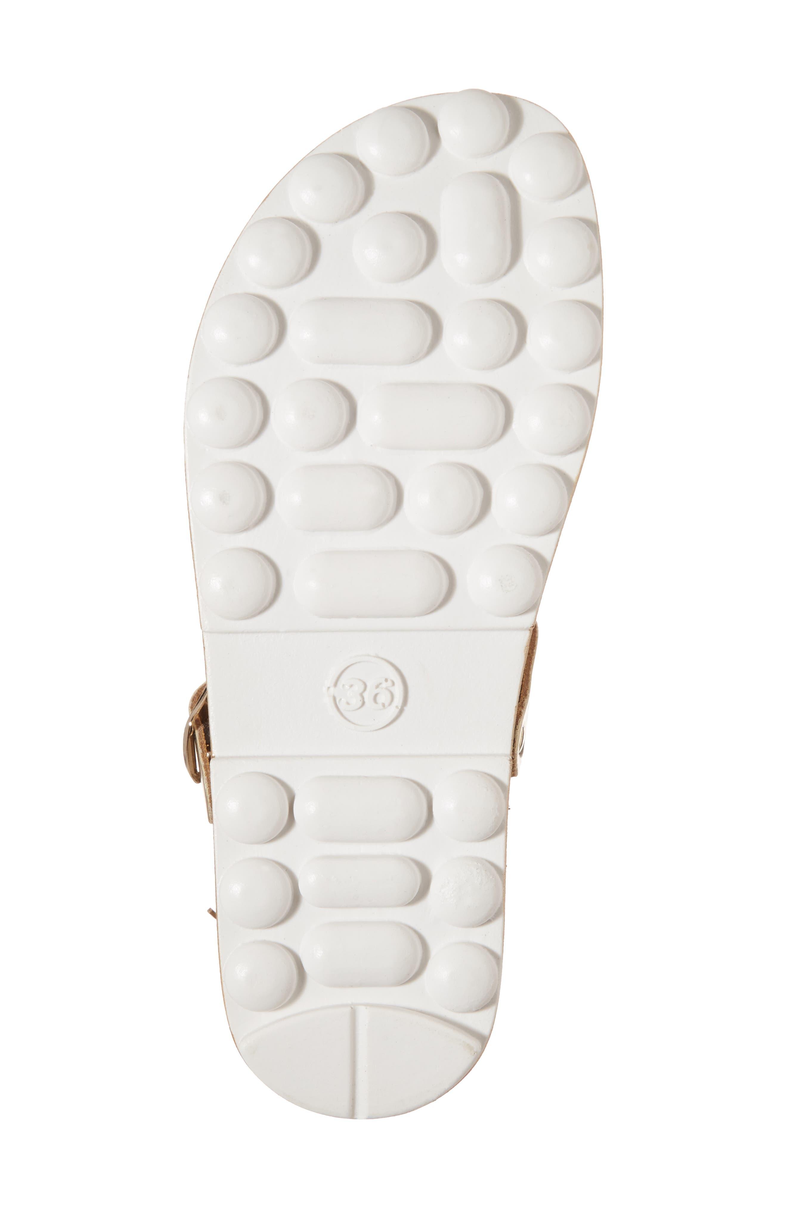Marlena Fantasy Sandal,                             Alternate thumbnail 6, color,                             Gold Caviar Leather