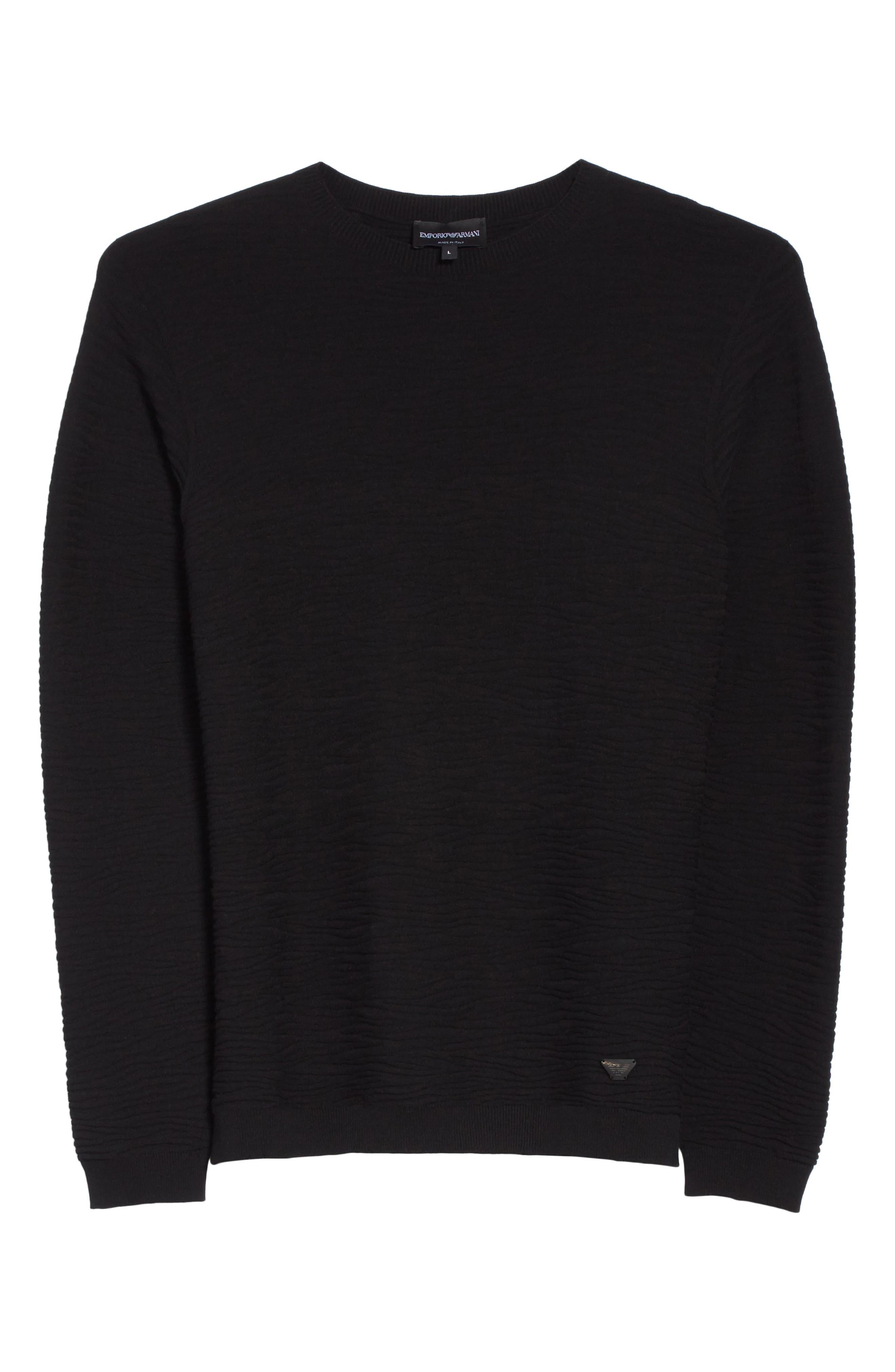 Slim Fit Allover Links Sweater,                             Alternate thumbnail 6, color,                             Black