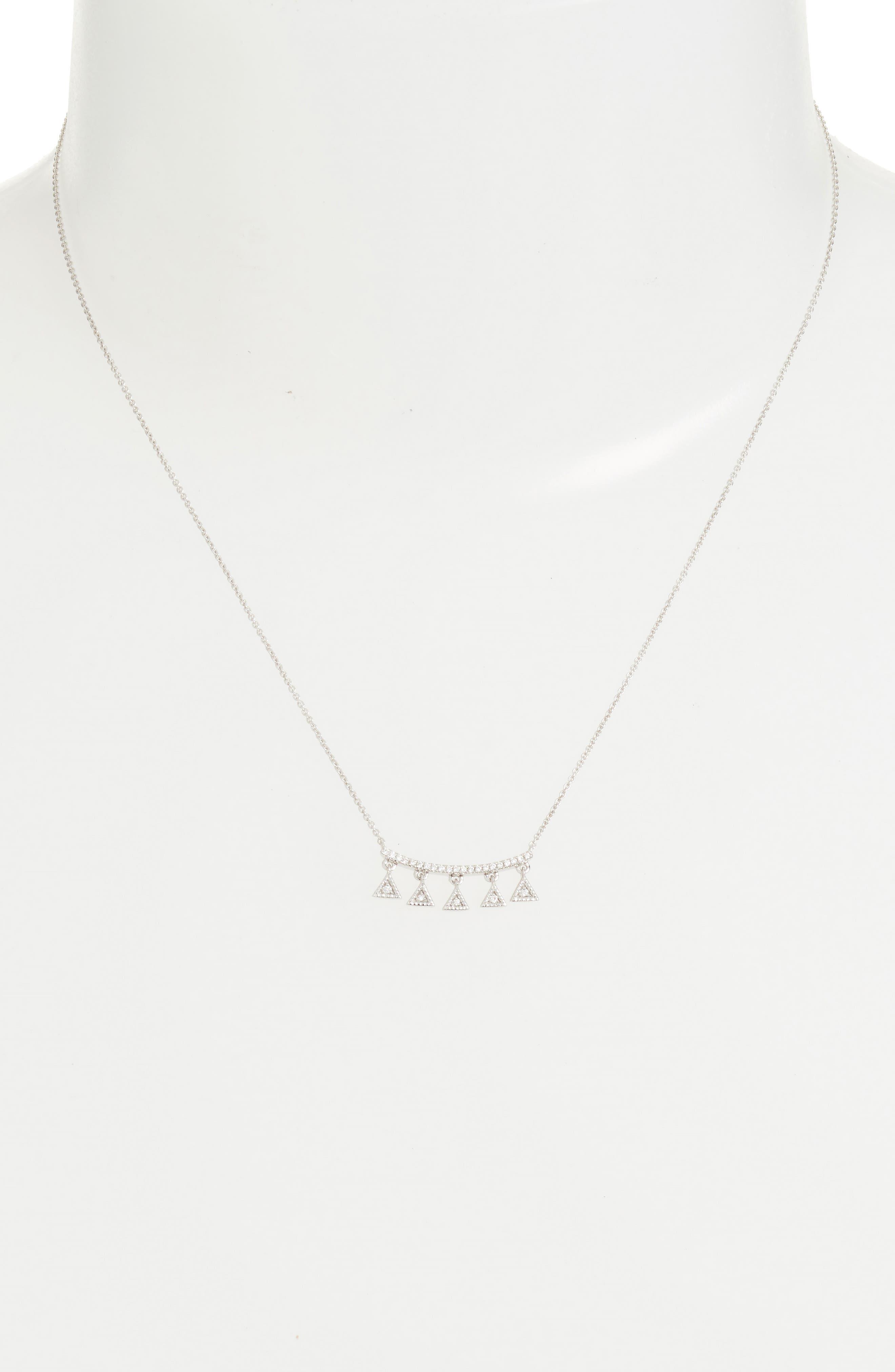 Alternate Image 2  - Dana Rebecca Designs Emily Sarah Diamond Pendant Necklace