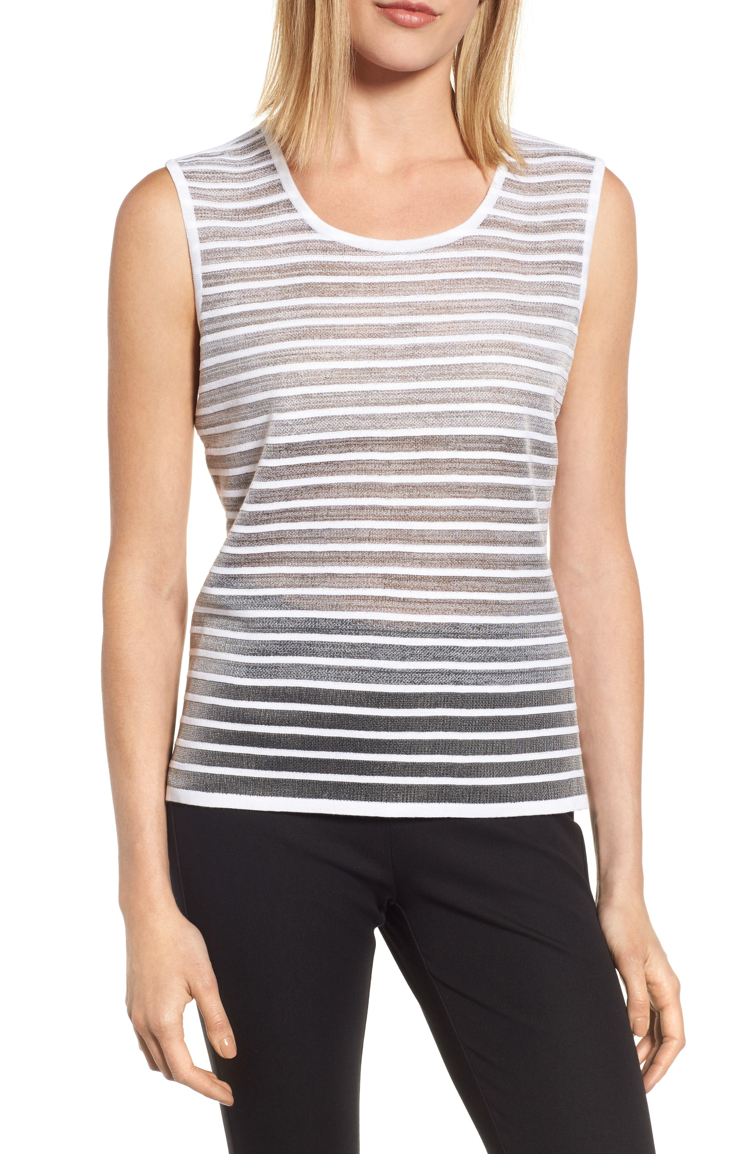 Ming Wang Reversible Knit Tank