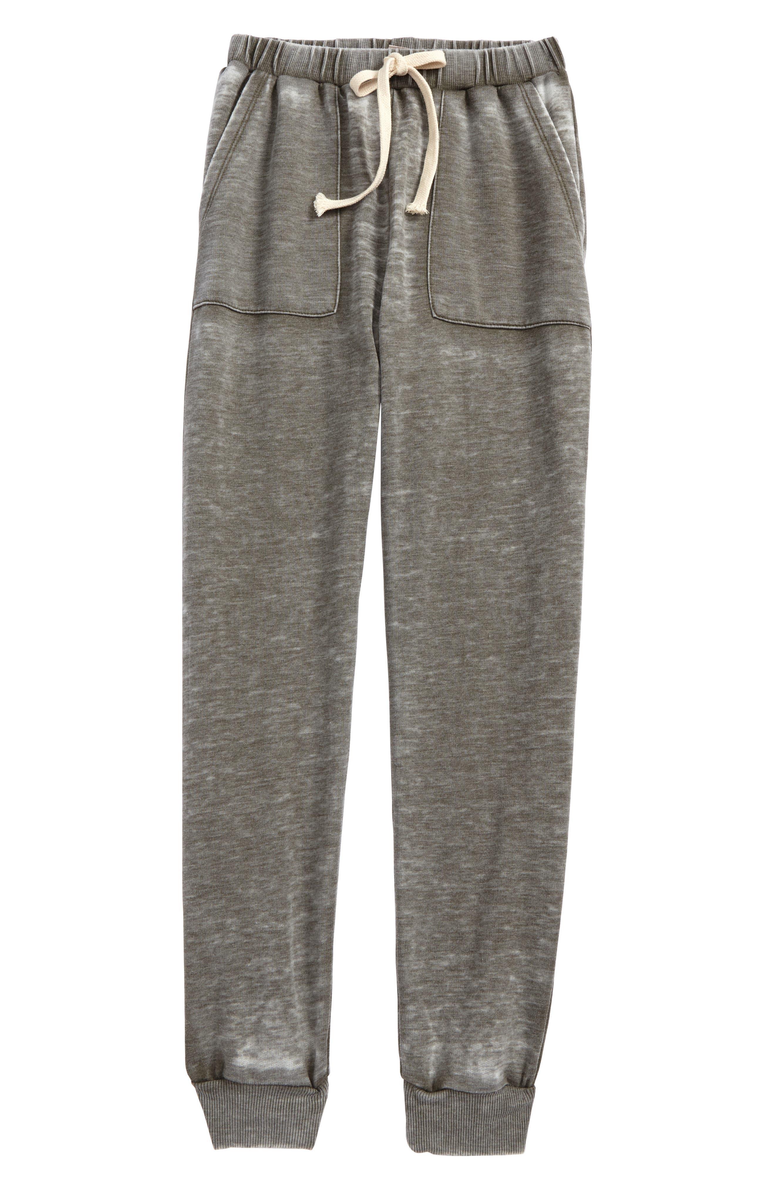 Distressed Sweatpants,                         Main,                         color, Olive