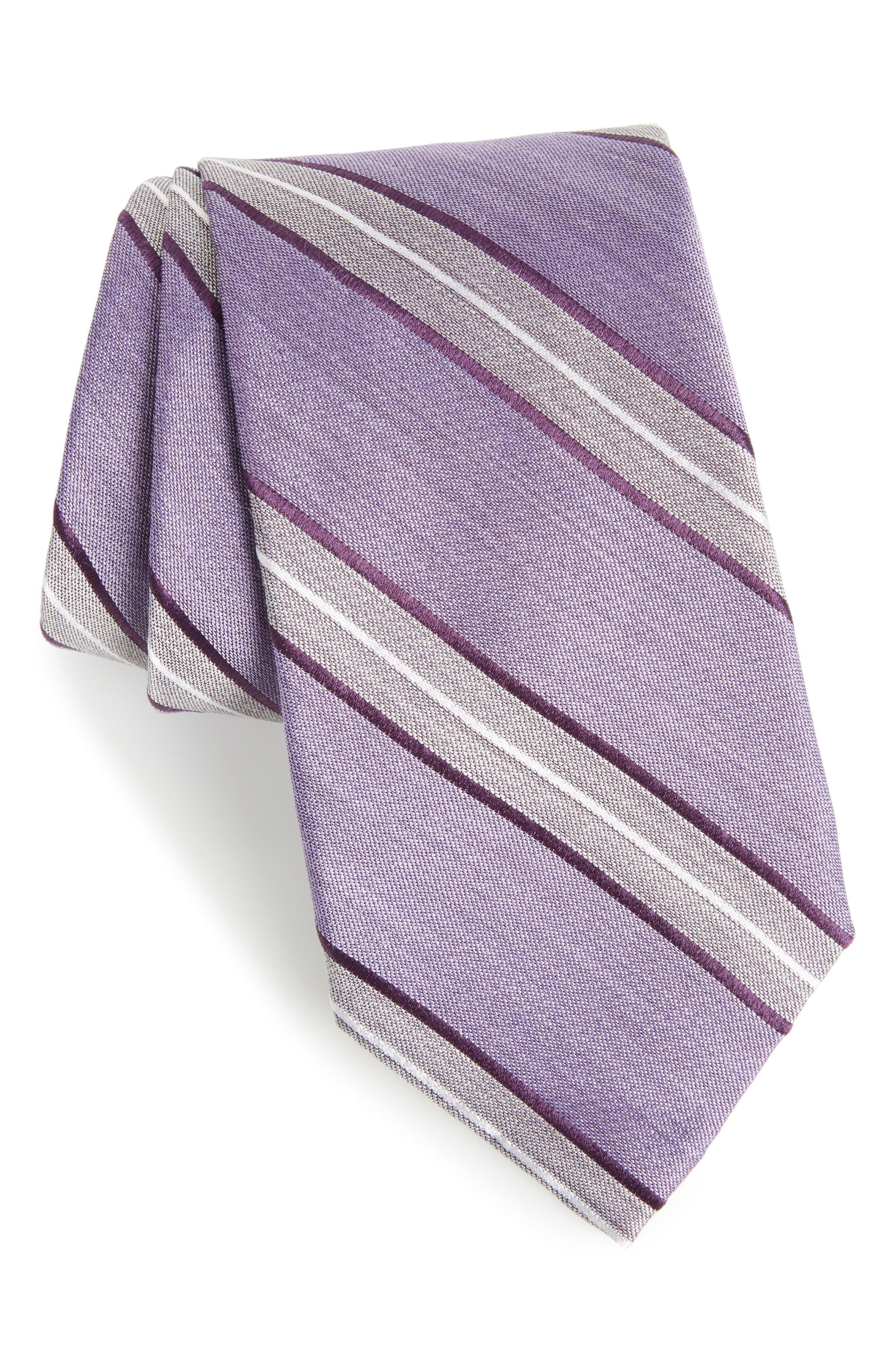 Alternate Image 1 Selected - Nordstrom Men's Shop Peralba Stripe Silk Blend Tie