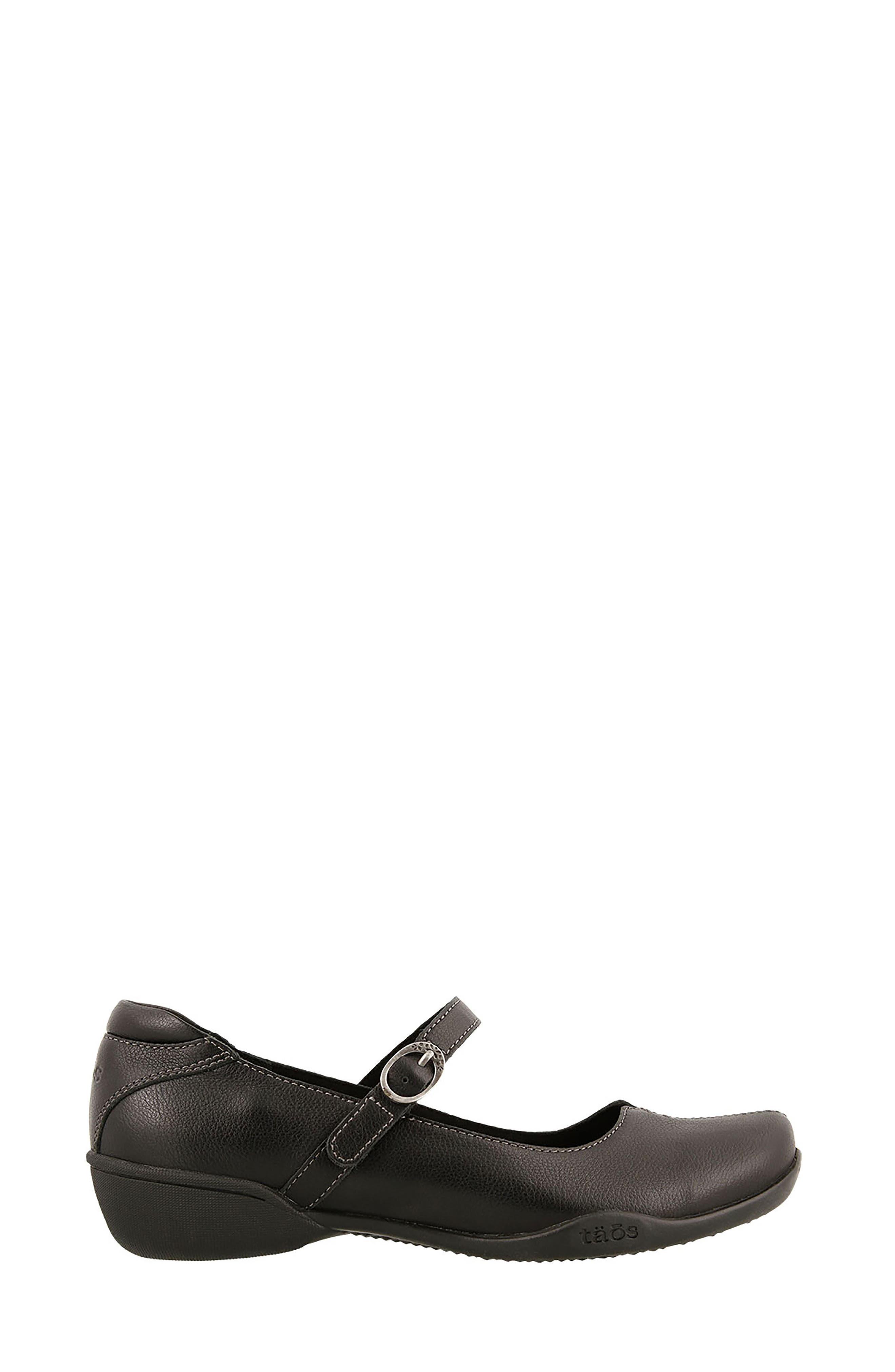 Ta Dah Mary Jane Flat,                             Alternate thumbnail 3, color,                             Black Leather