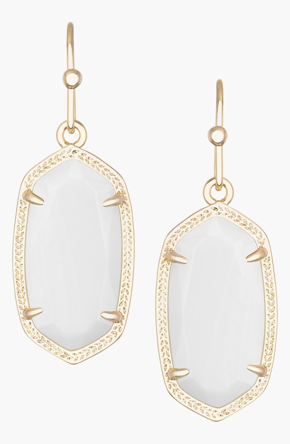 Dani Stone Drop Earrings,                         Main,                         color, White Mother Of Pearl