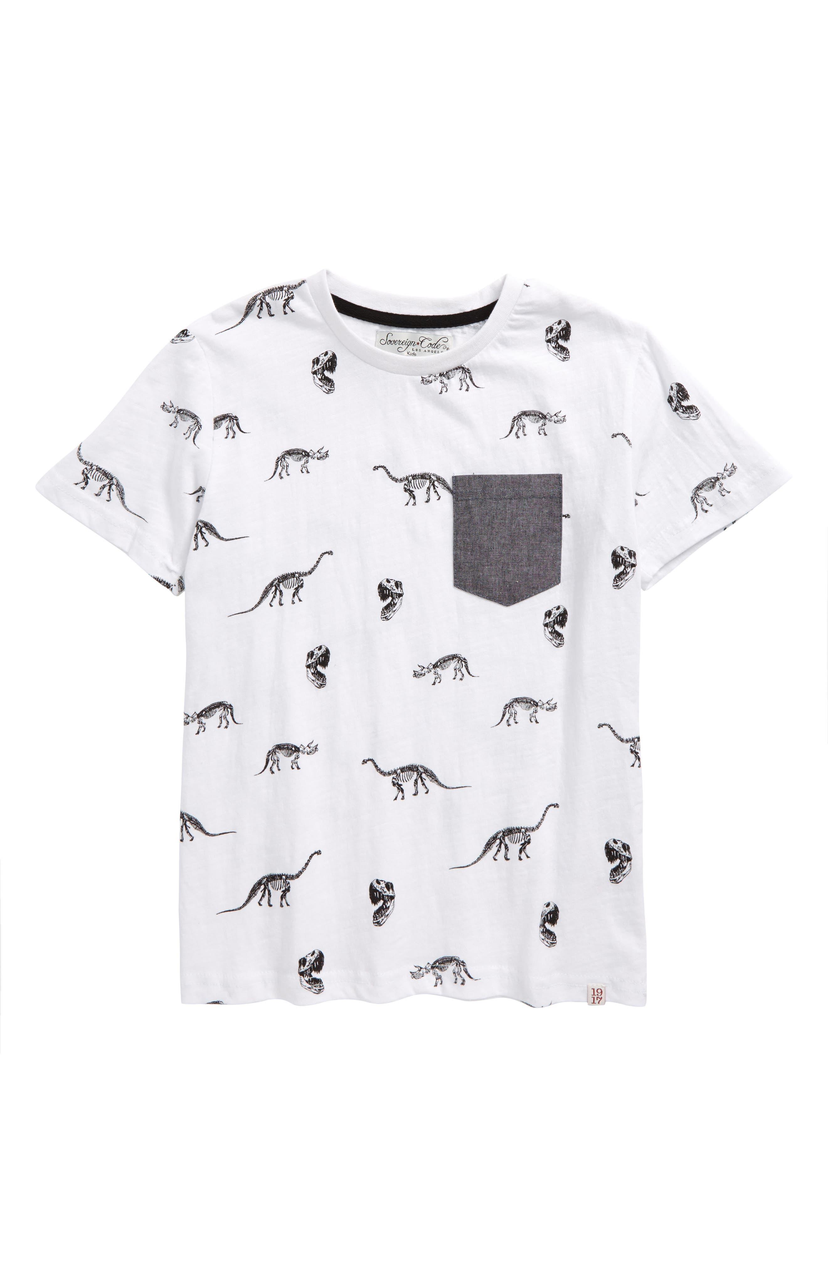 Historic Print T-Shirt,                         Main,                         color, White