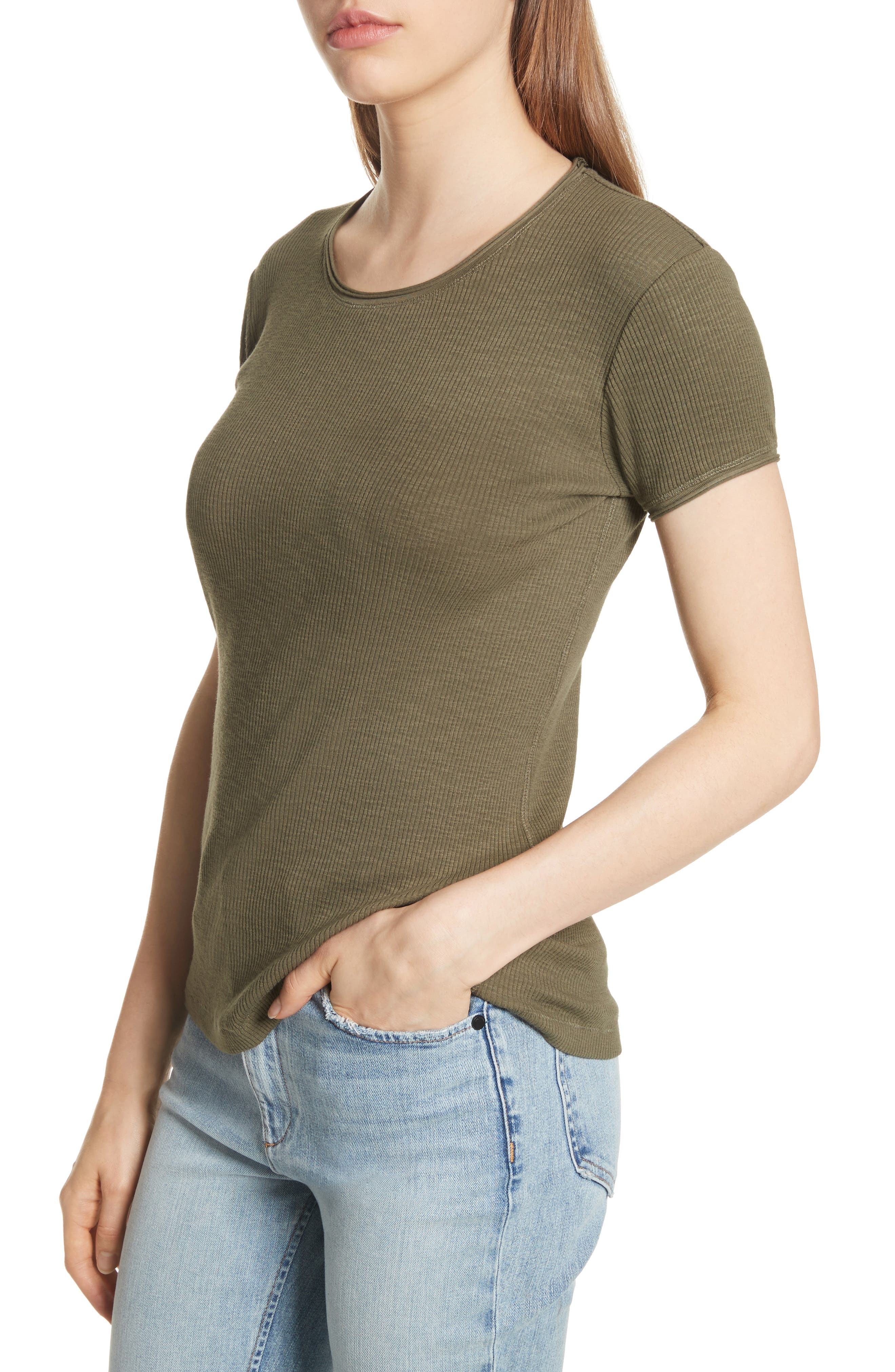 Lilies Tee,                             Alternate thumbnail 4, color,                             Dark Olive